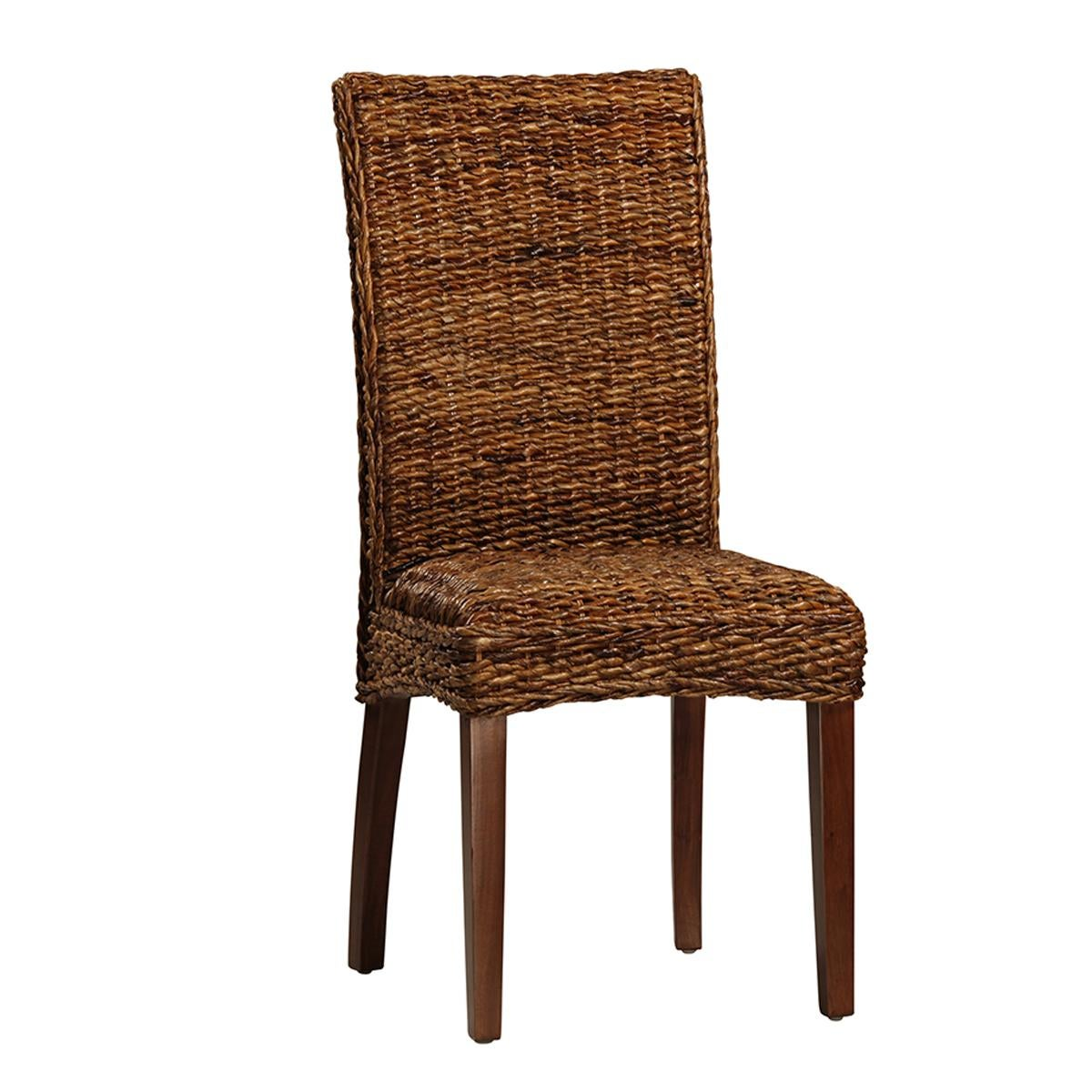 Woven banana leaf dining chair chairish