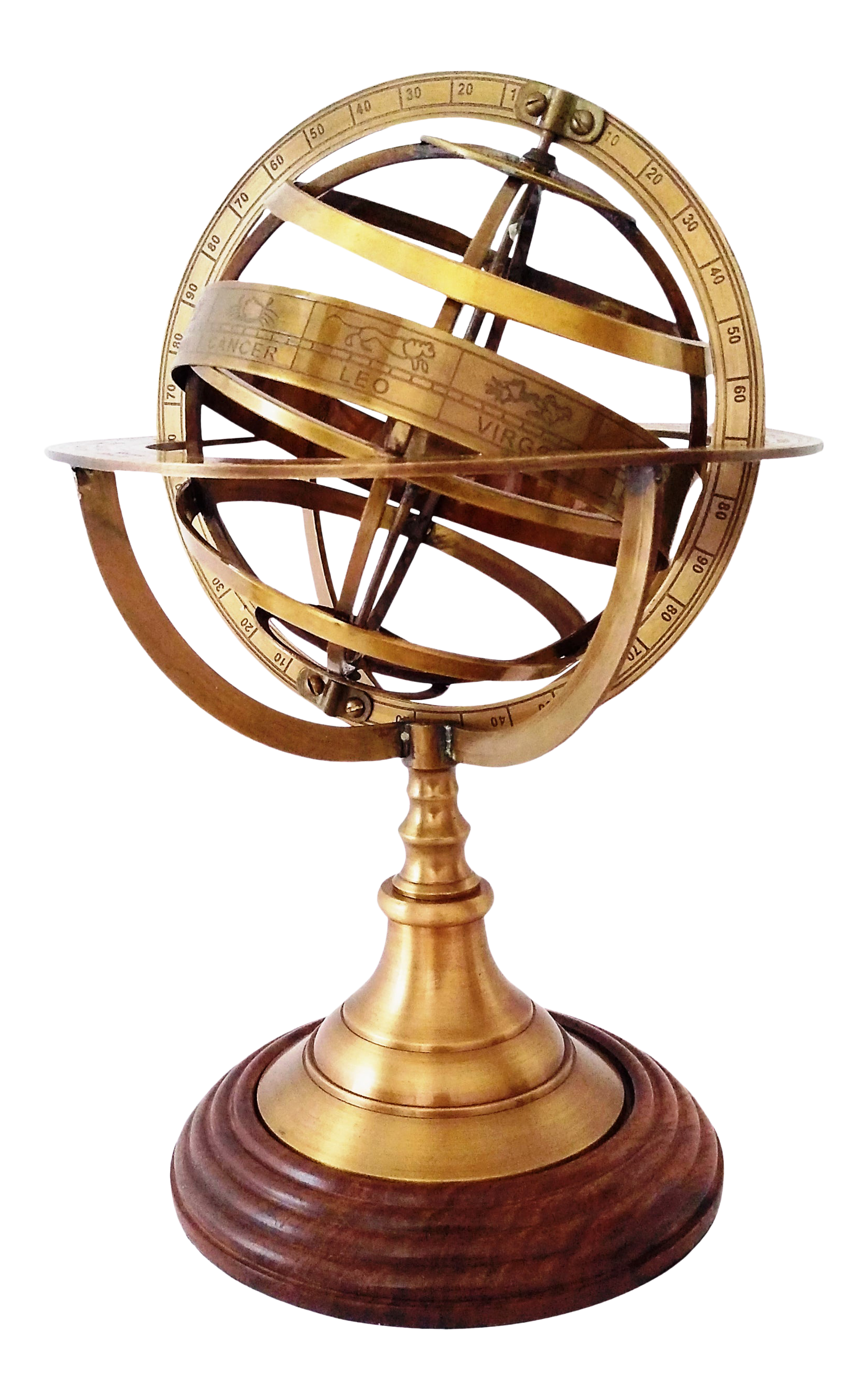 Nautical Brass Armillary With World Globe Vintage Engraved World Globe Christmas