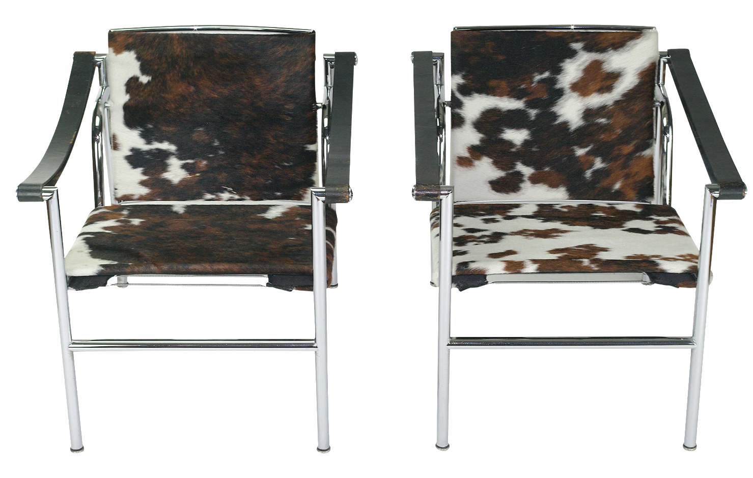 le corbusier lc1 chairs by cassina a pair chairish
