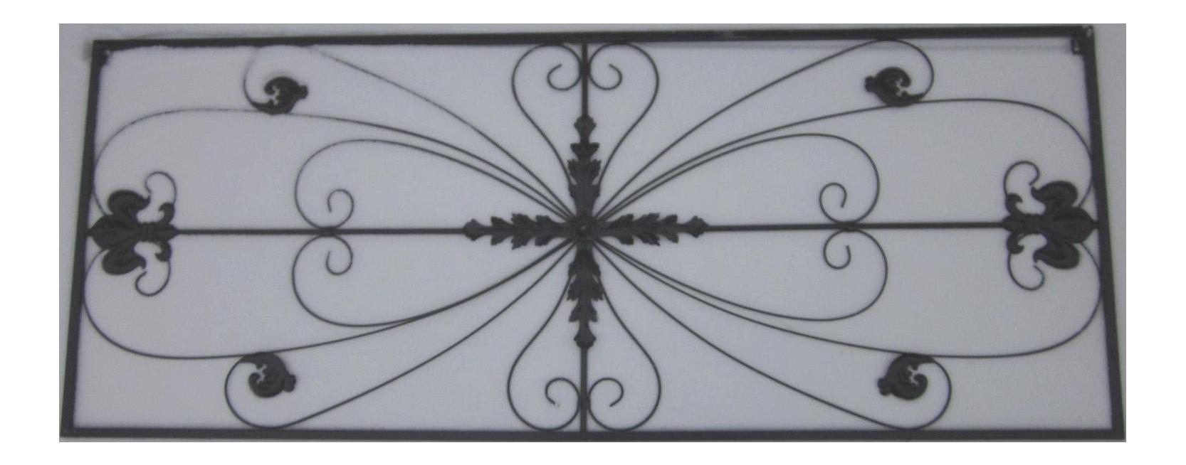 metal grille fleur de lis ornamental panel chairish With kitchen cabinet trends 2018 combined with fleur de lis metal wall art