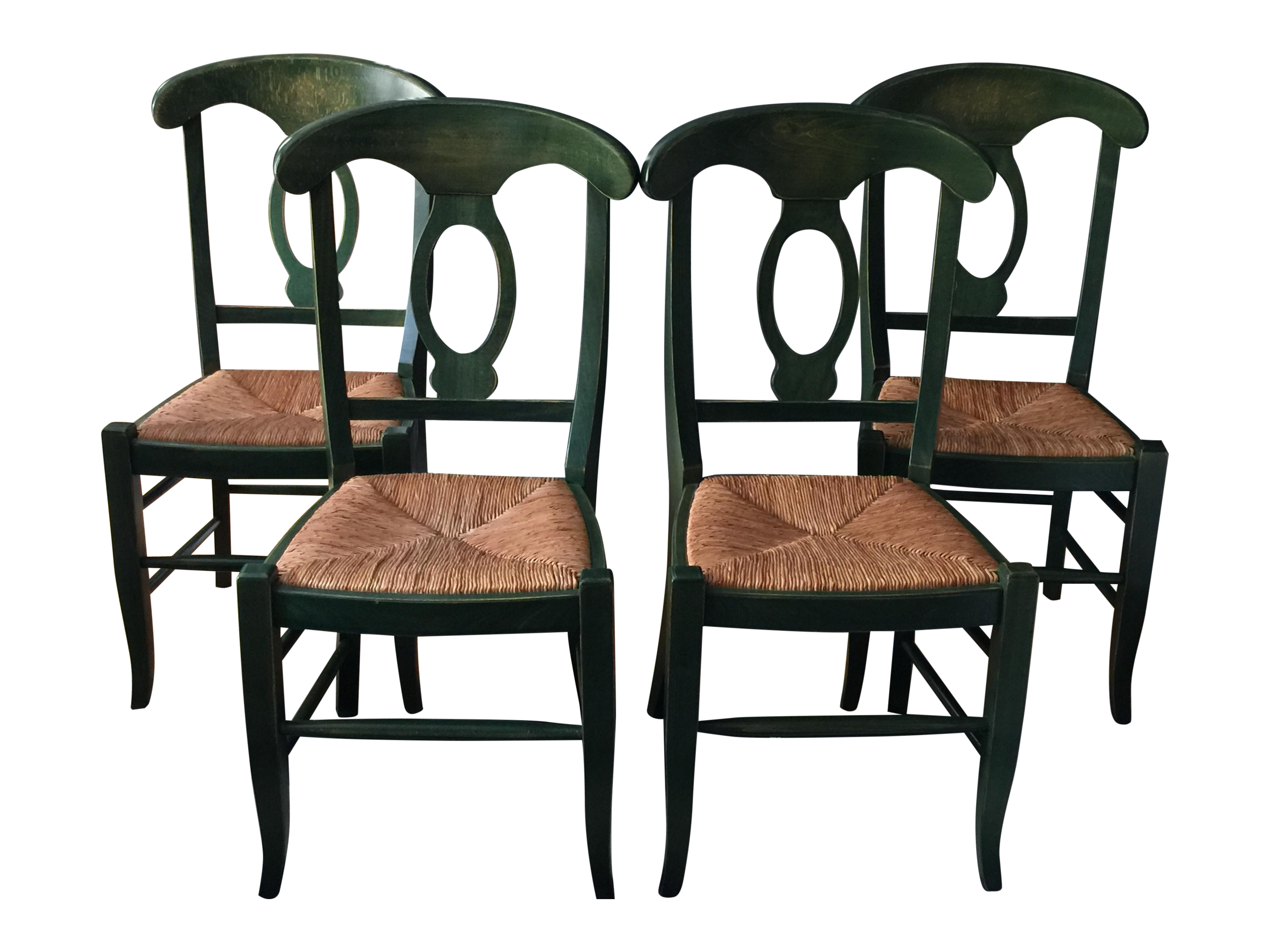 Green Pottery Barn Napoleon Dining Chairs 4