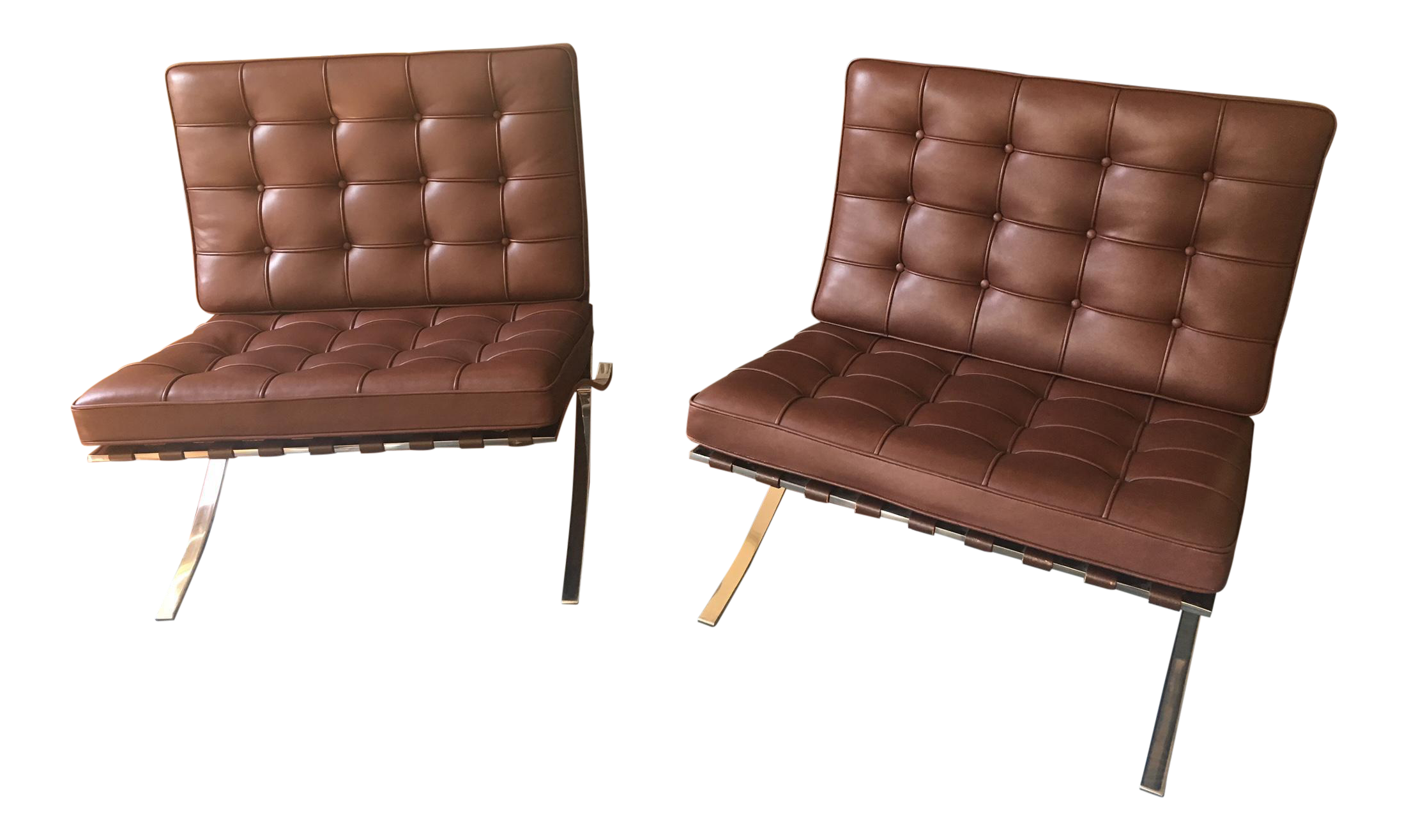 Lovely Knoll Barcelona Chocolate Brown Chairs