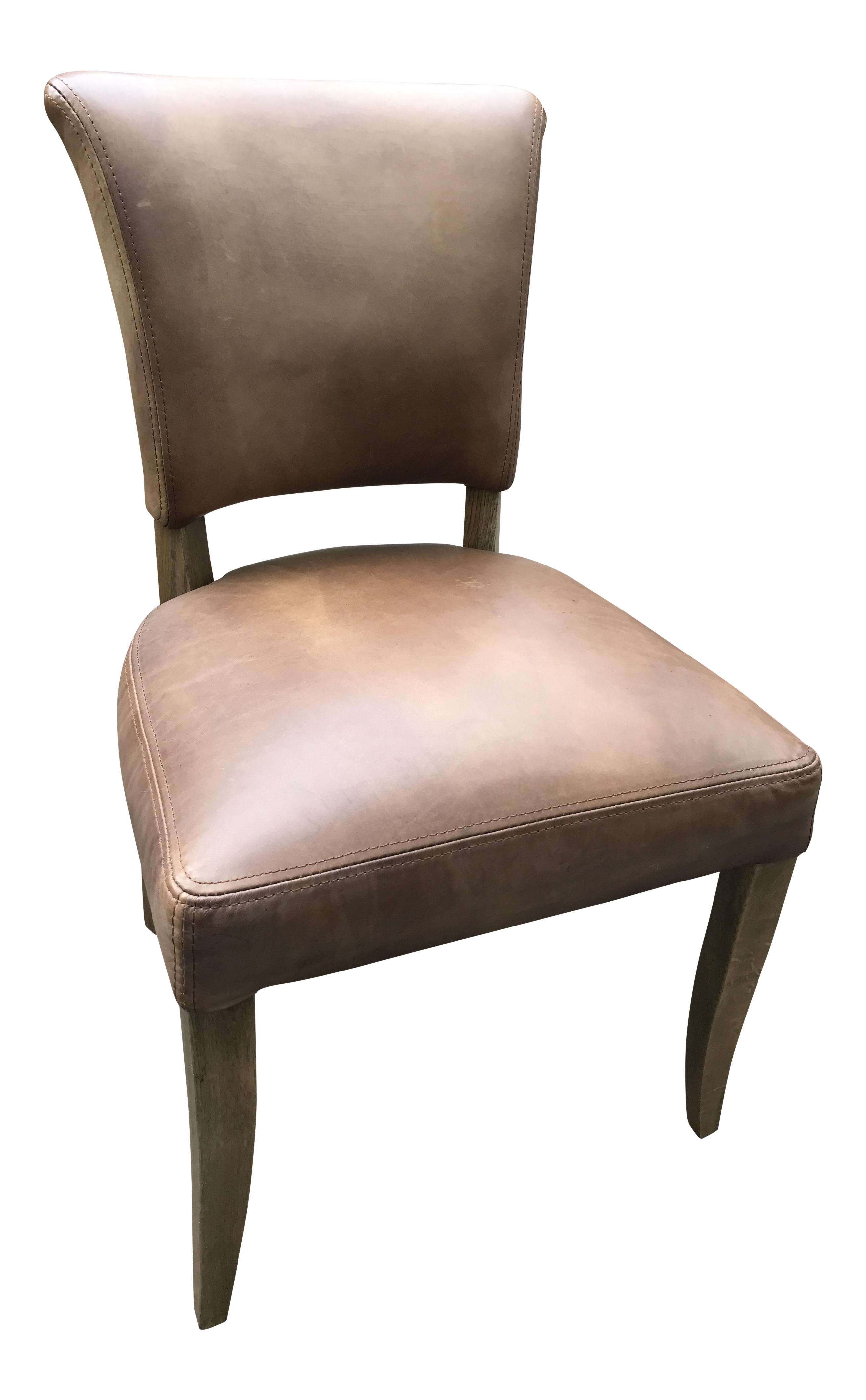 Awesome Restoration Hardware Adele Leather Side Chair Home Interior And Landscaping Synyenasavecom