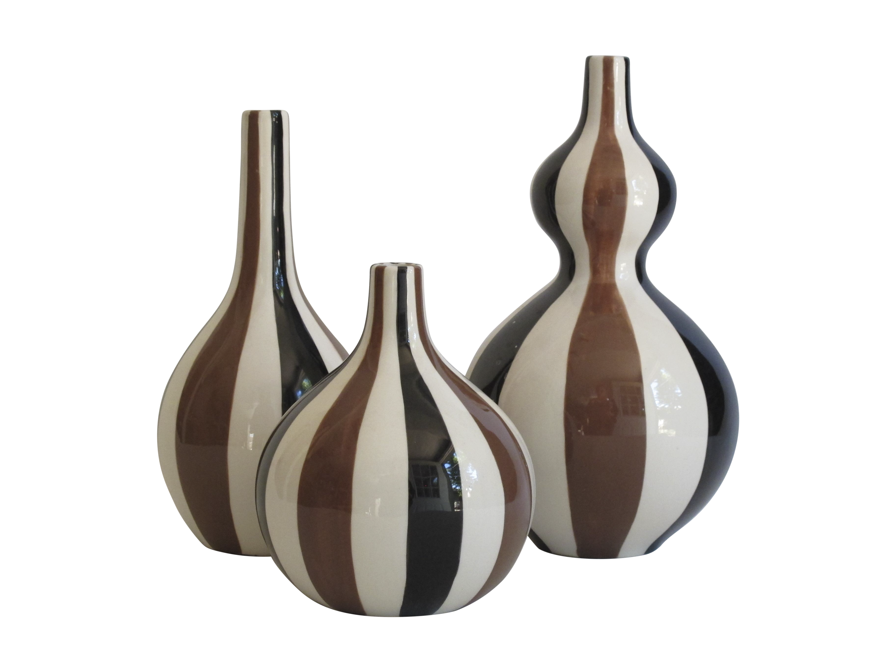 Jonathan adler striped vase collection set of 3 chairish reviewsmspy
