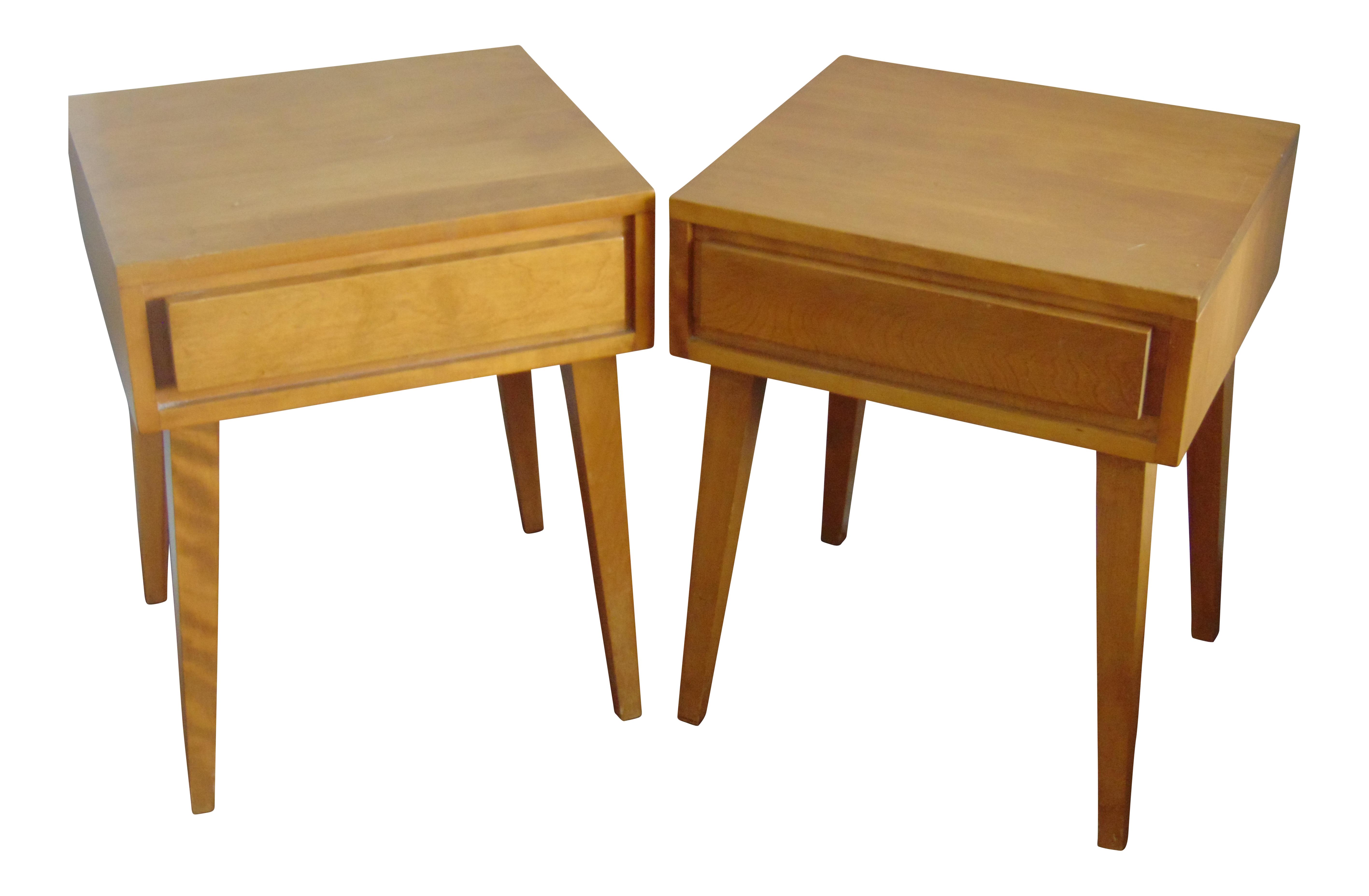 Conant Ball Furniture Makers Mid Century Modern Side Tables A Pair Chairish