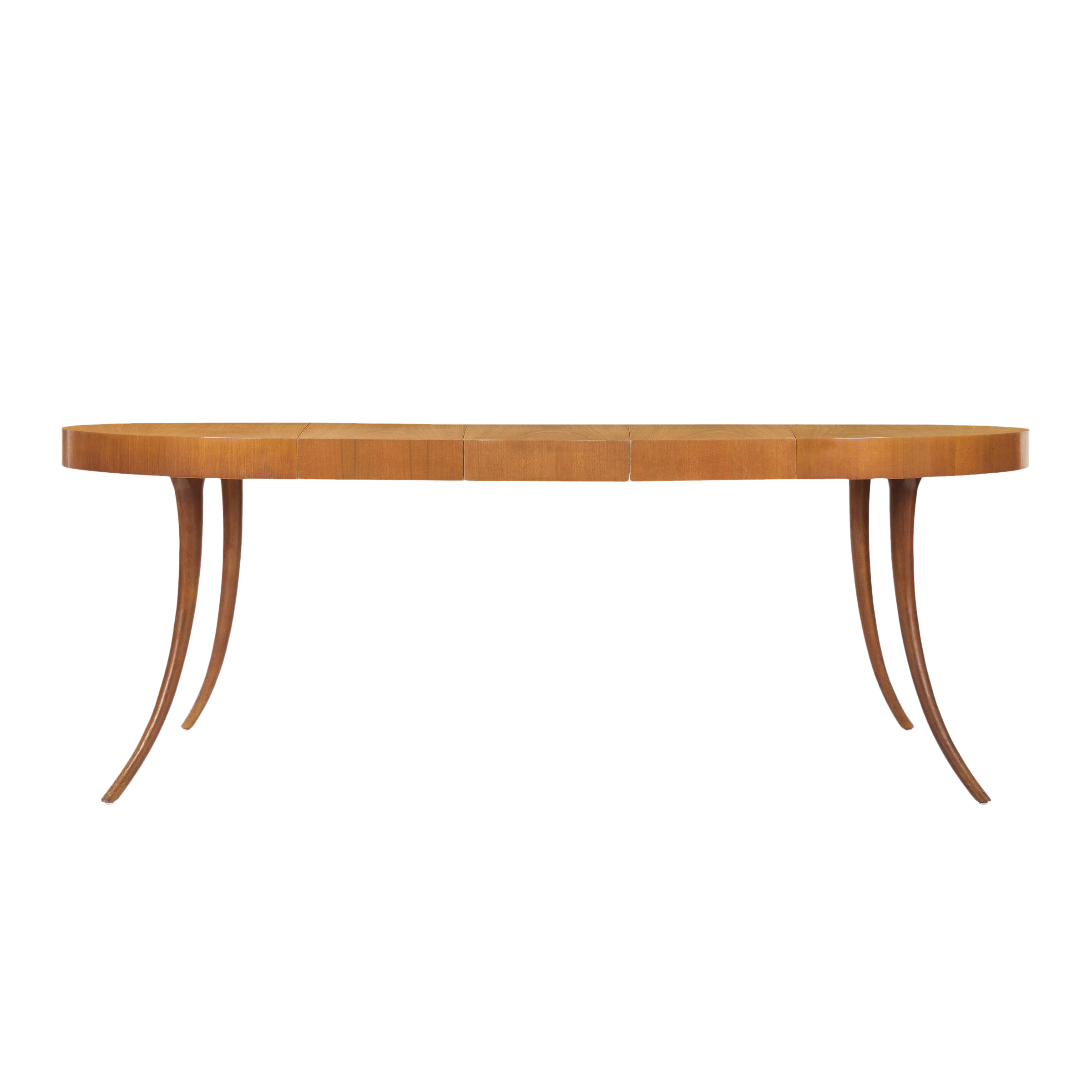 Incredible t h robsjohn gibbings saber leg dining table for Hades dining table th8