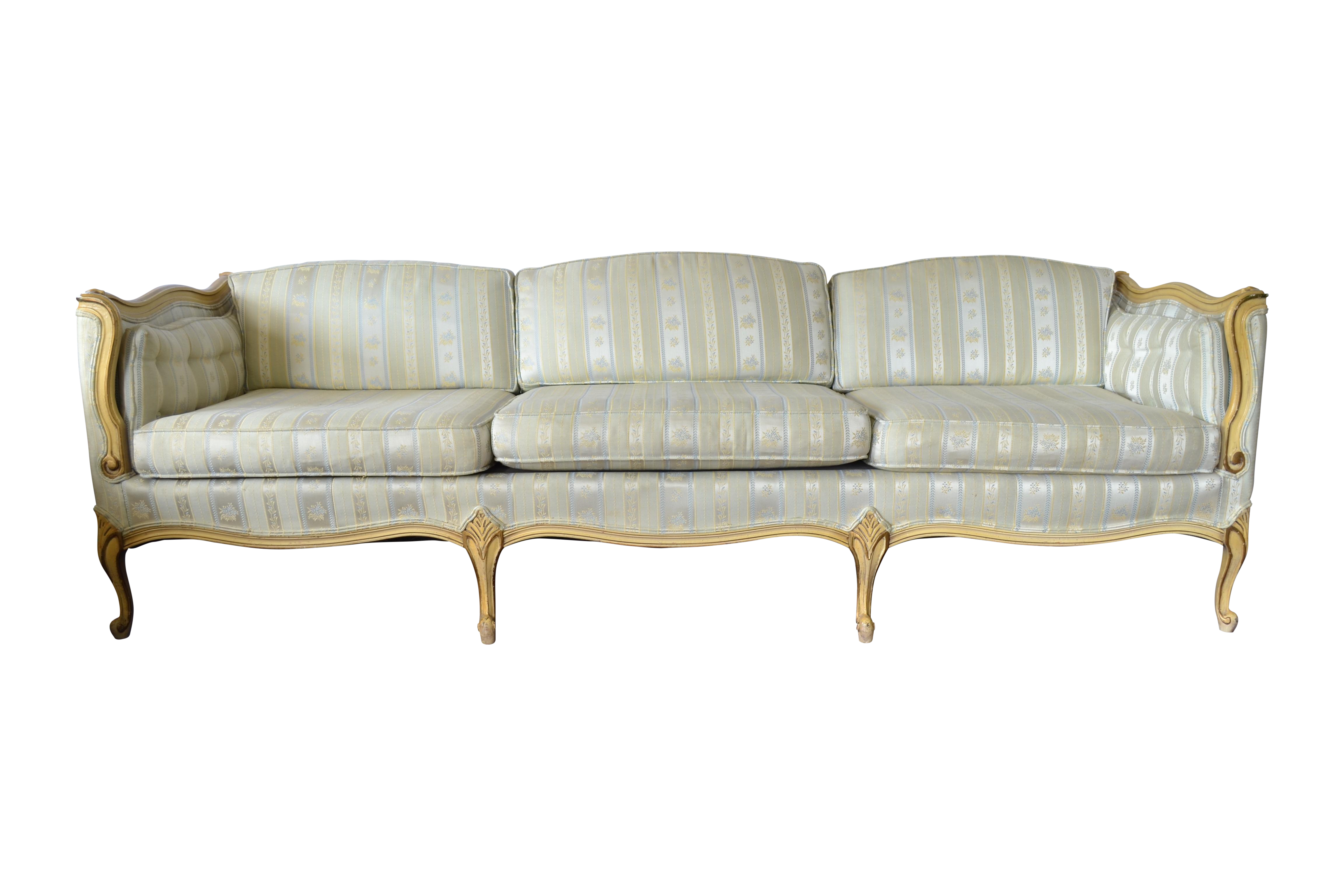 Picture of: Vintage French Provincial Sofa Chairish