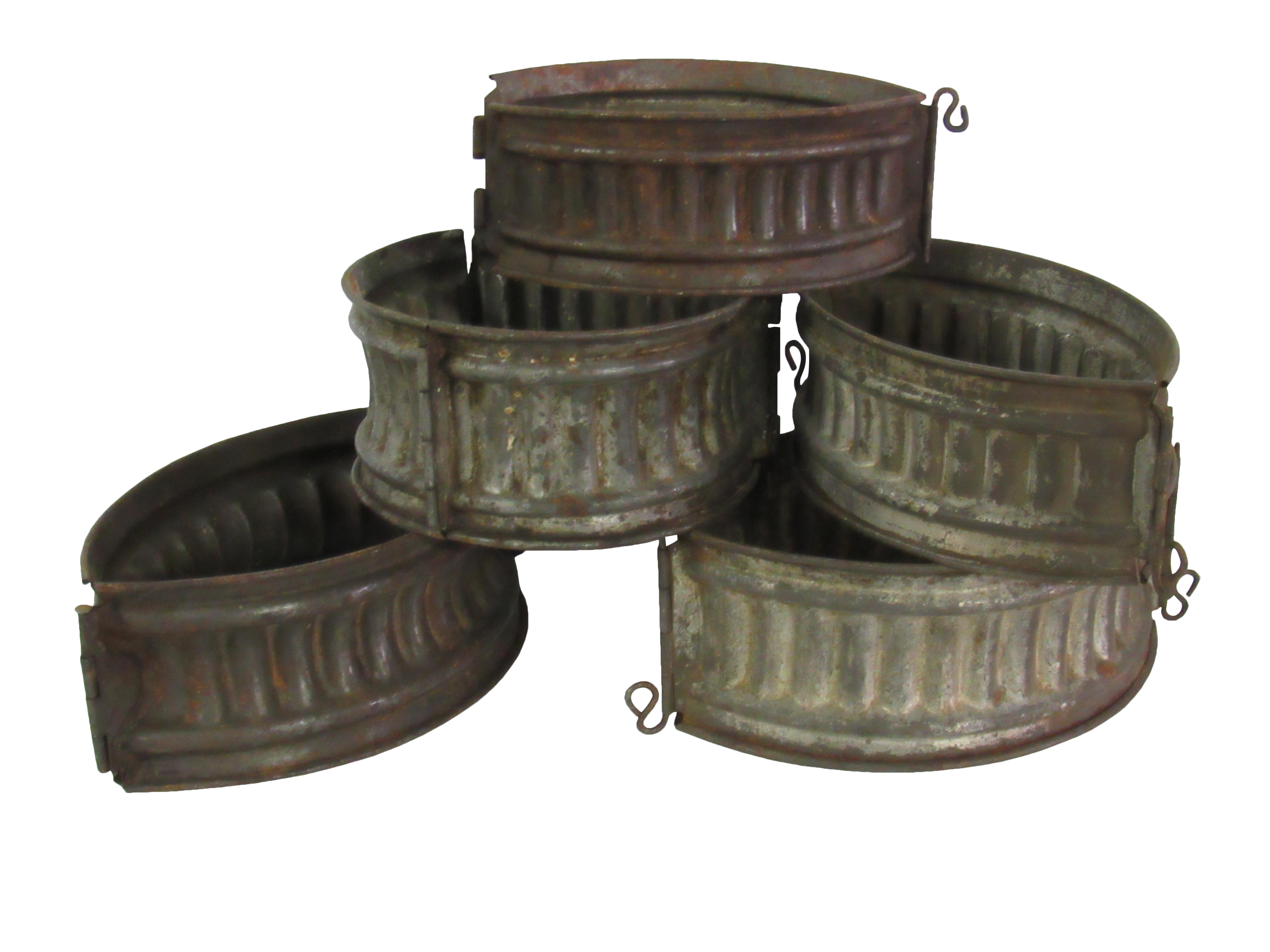 Antique French Meat Game Pie Molds Set Of 5 Chairish