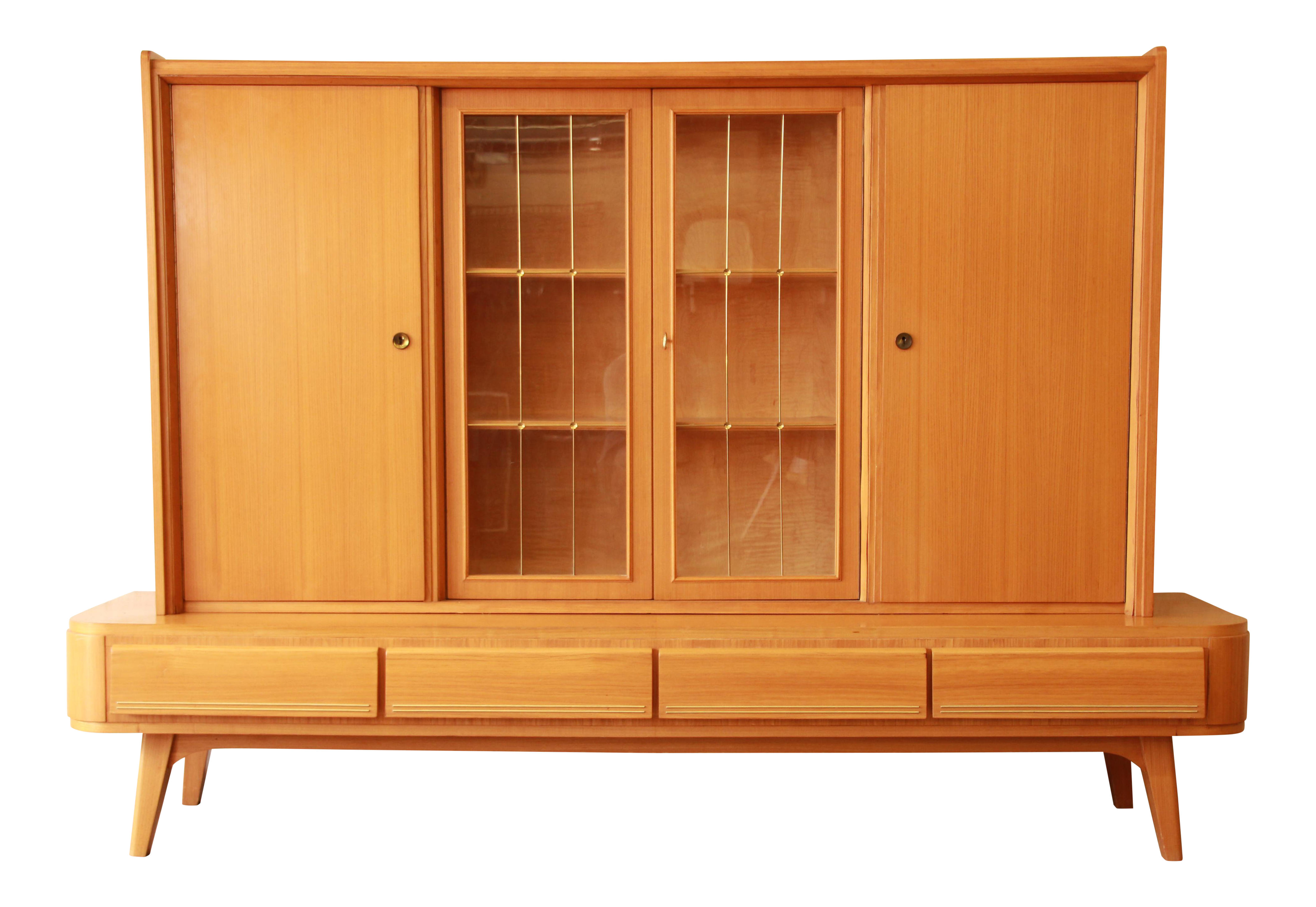 Mid century modern sideboard with hutch chairish for Bad sideboard