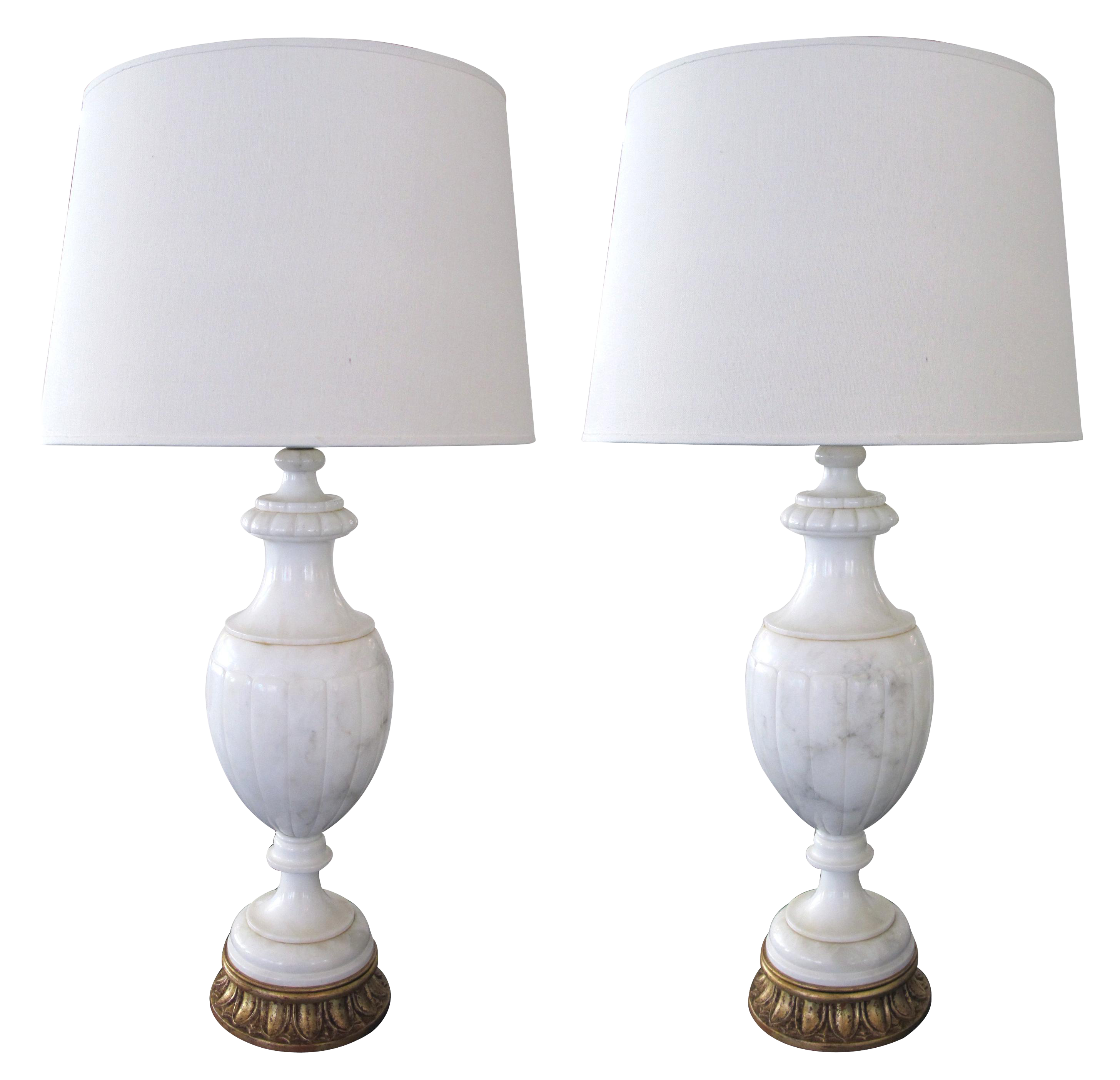 white shades table modern of and products pedestal lamp light brass antique marble