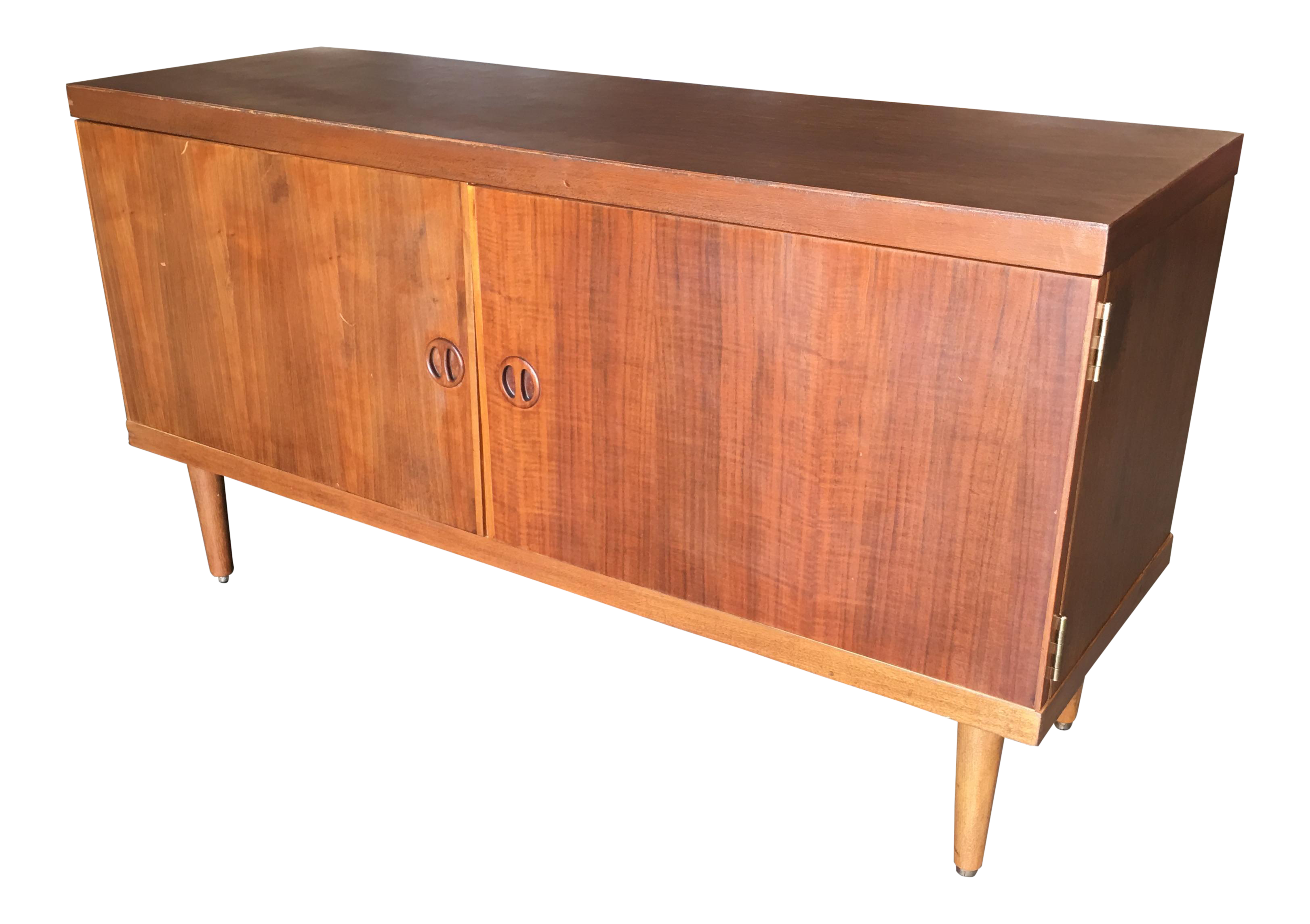 Danish Credenza Los Angeles : Danish credenza teak sideboard with glass front top cabinet