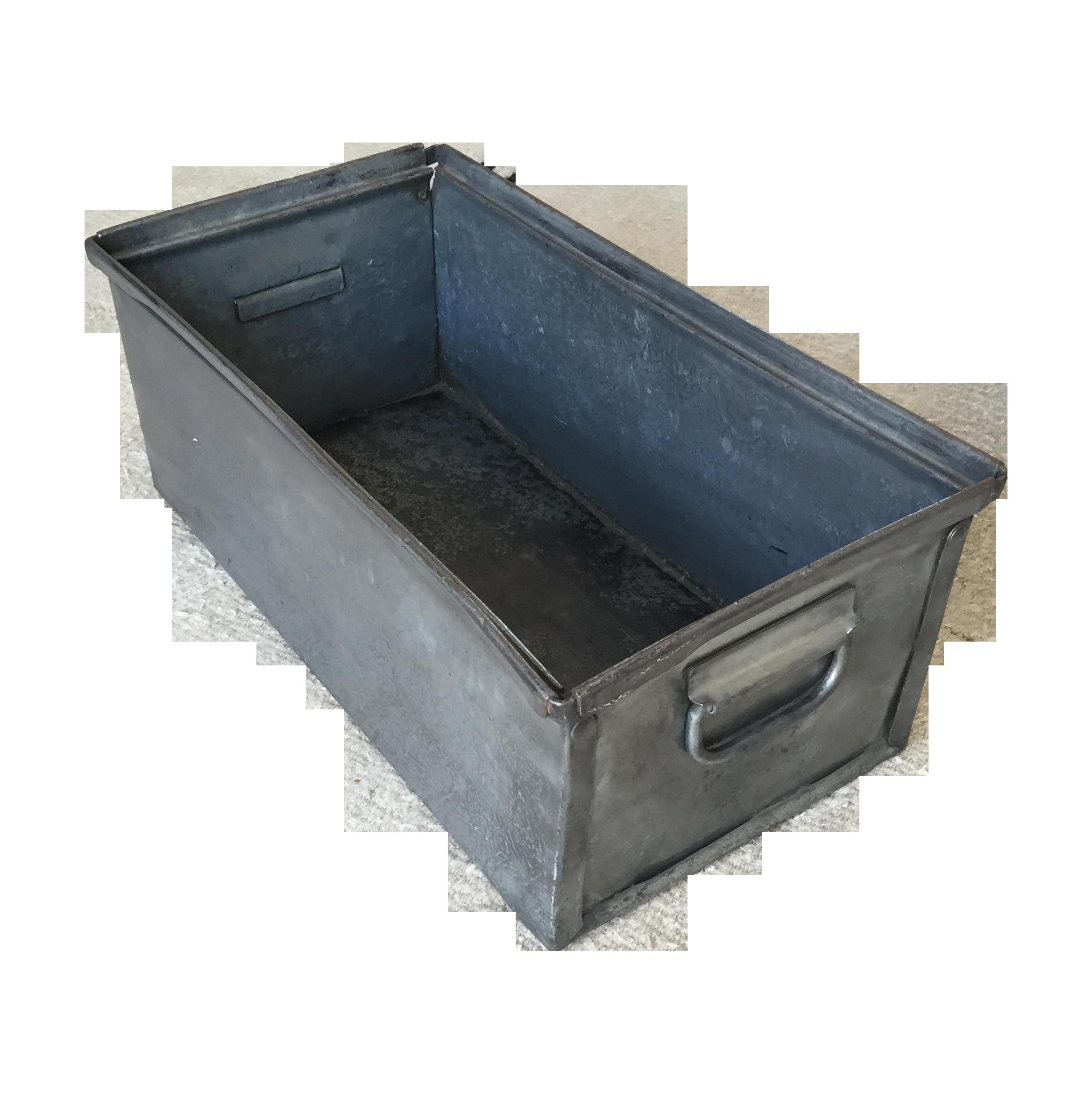 sc 1 st  Chairish & Vintage Industrial Metal Storage Box   Chairish