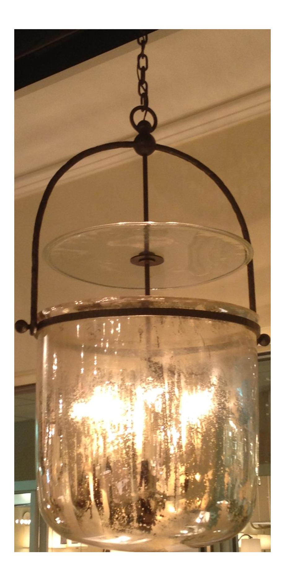 Visual comfort lorford smoke bell lantern in aged iron with visual comfort lorford smoke bell lantern in aged iron with mercury glass 4 available chairish arubaitofo Choice Image