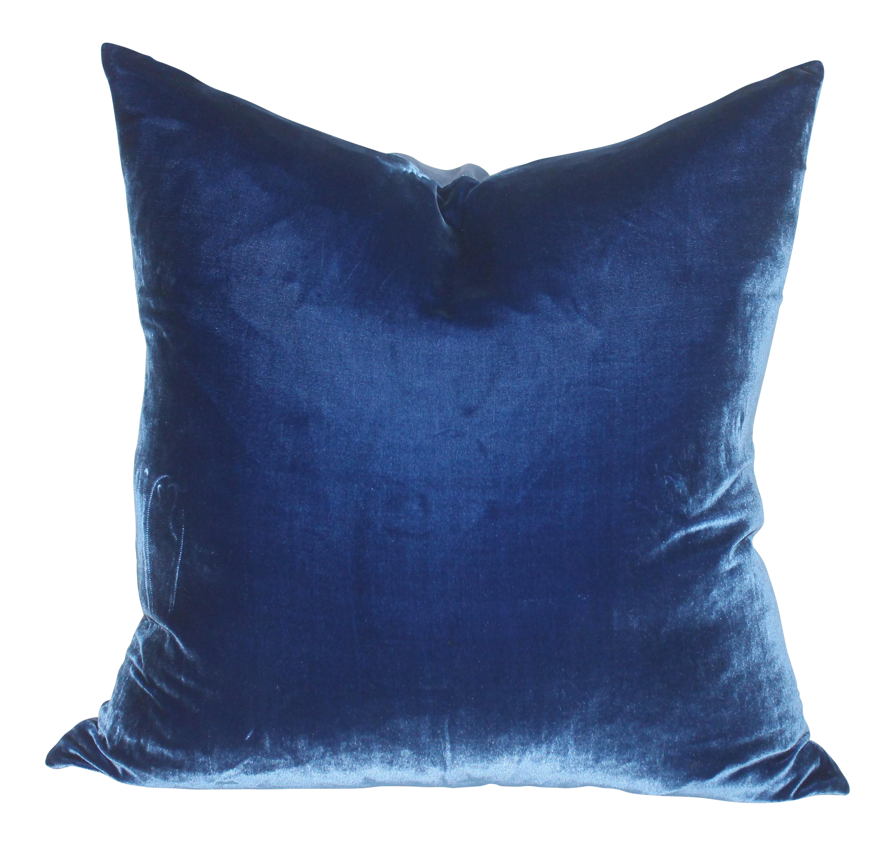 royal blue velvet pillow chairish. Black Bedroom Furniture Sets. Home Design Ideas