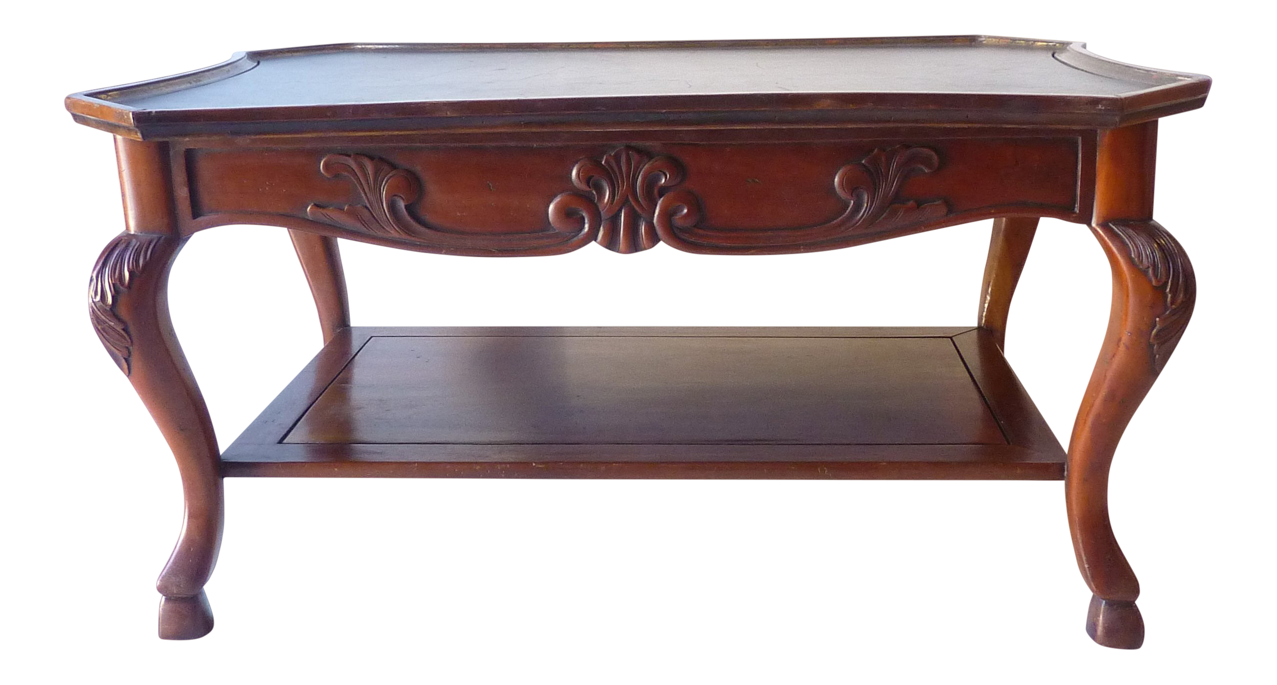 - 20th Century Rococo Revival Leather Top Coffee Table Chairish