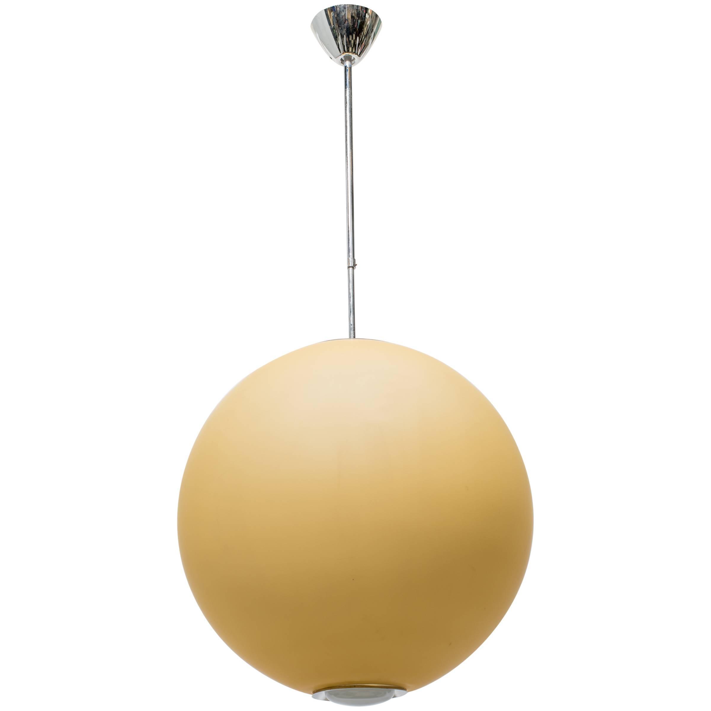 1960s glass orb chandelier