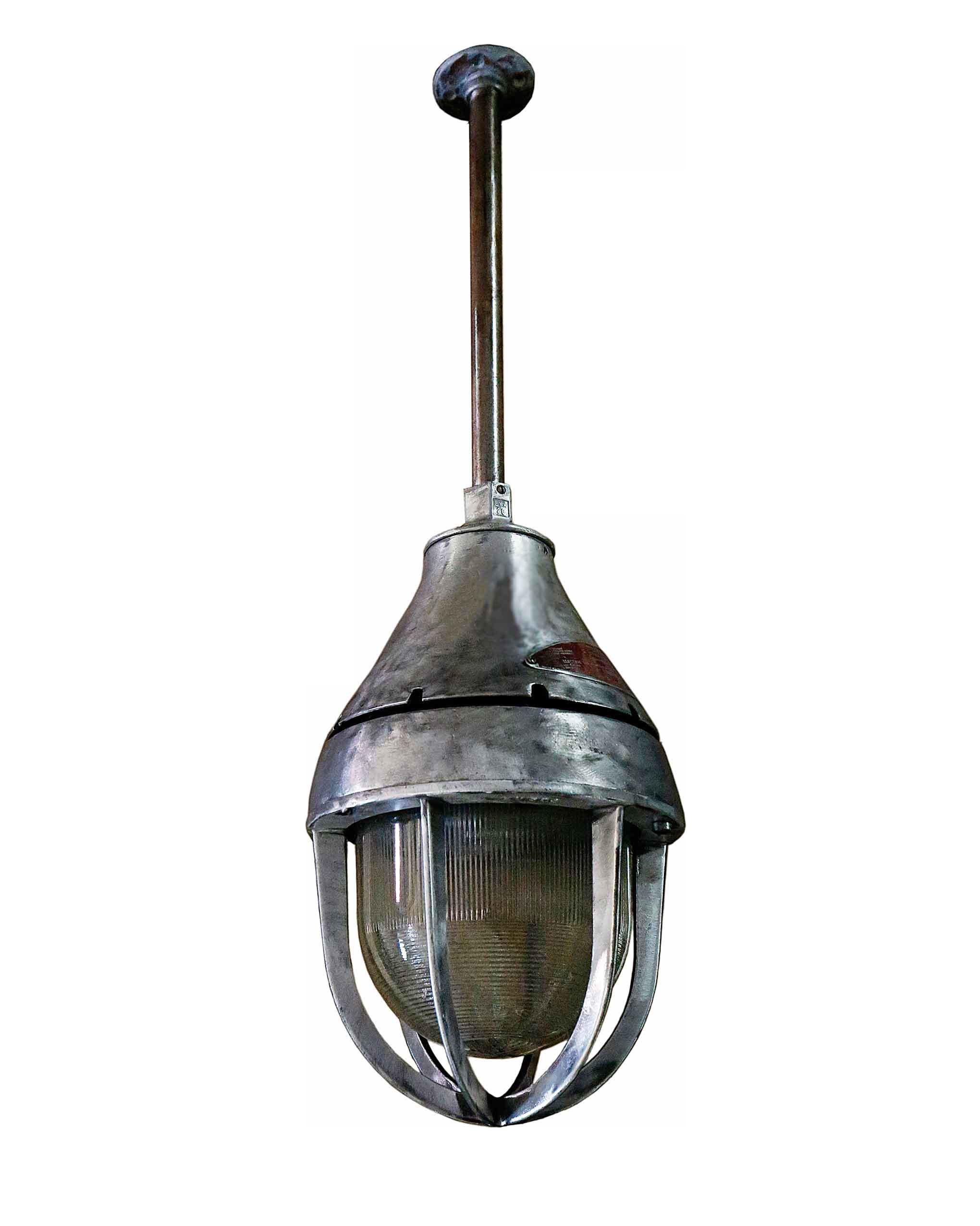 20th century industrial metal hanging light fixture chairish
