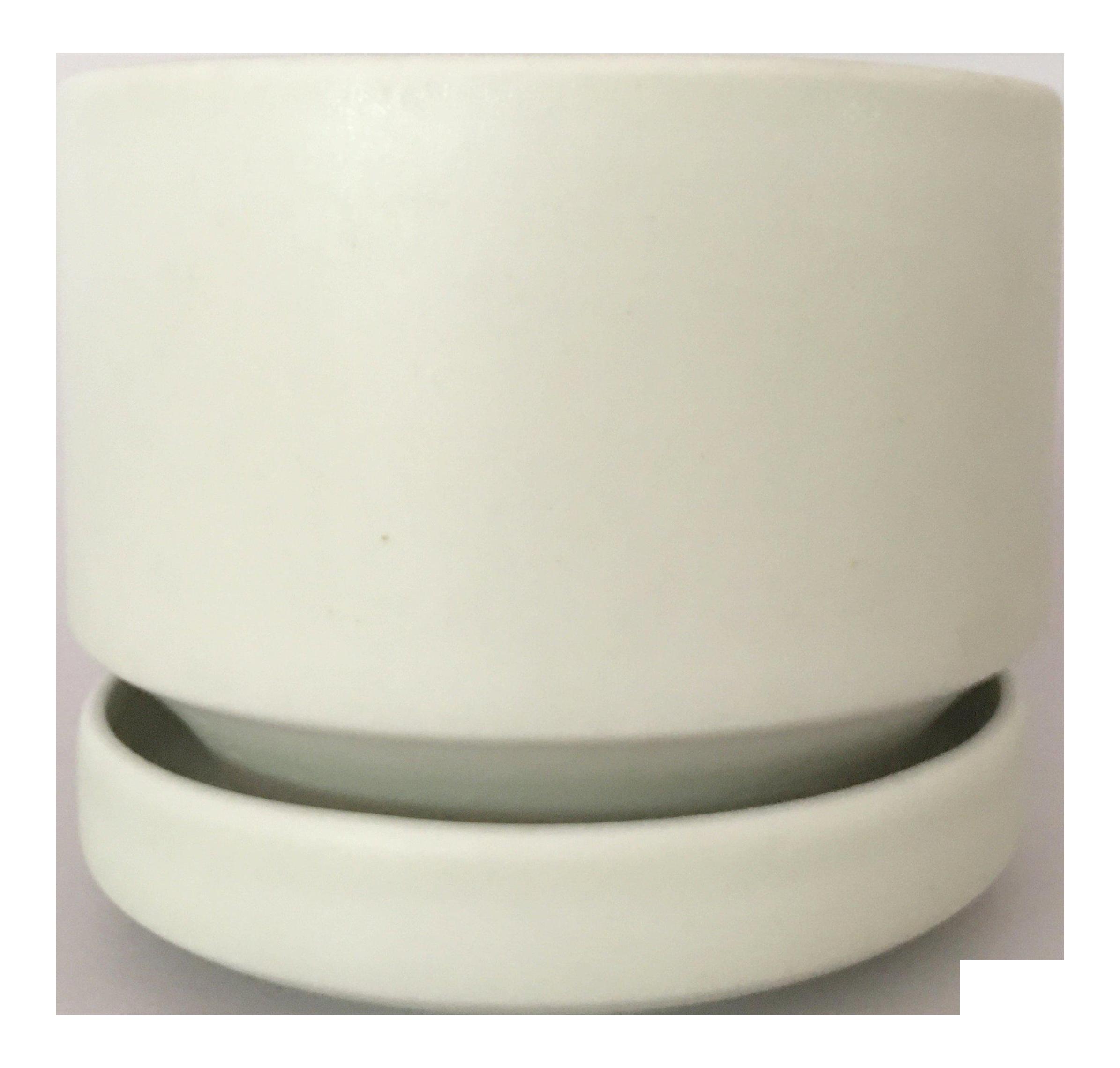 Arabia Finland Vintage White Flower Pot Saucer Chairish