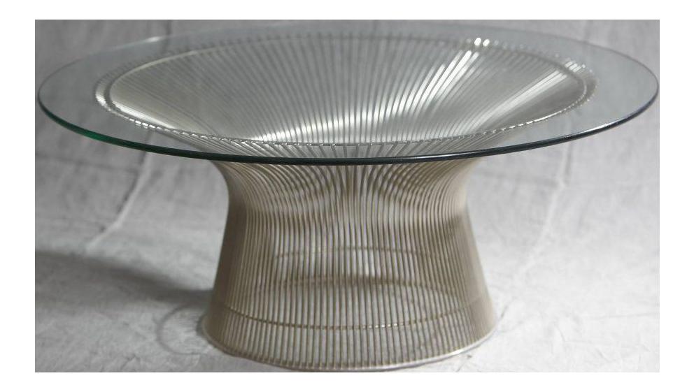 Warren platner coffee table chairish for Warren platner coffee table