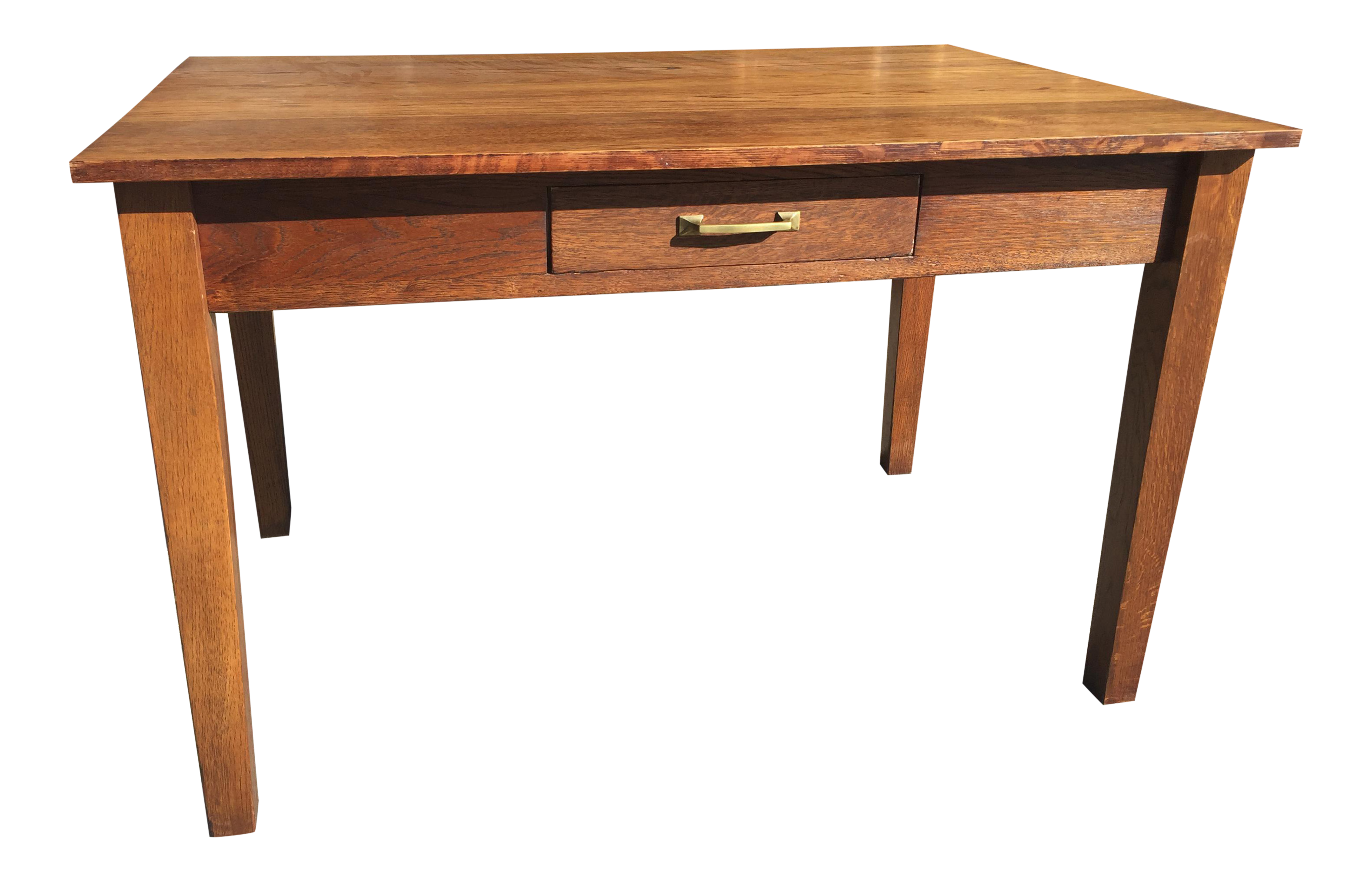 Antique arts crafts style library or kitchen table for Arts and crafts kitchen table