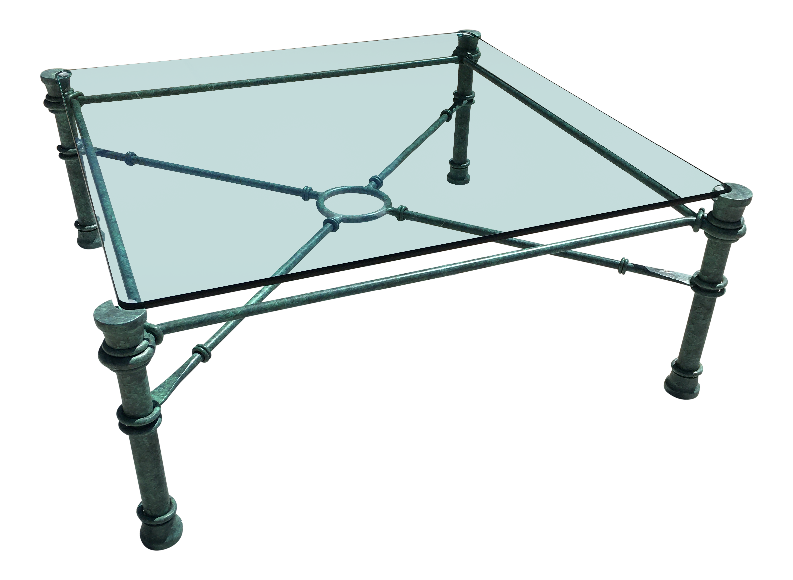 - Mid-Century Modern Wrought Iron Coffee Table After Giacometti