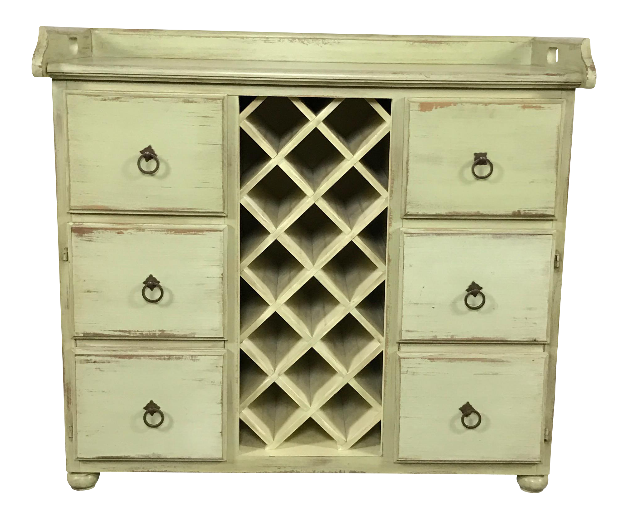 Crate barrel rustic wine rack cabinet chairish for Kitchen cabinets lowes with crate and barrel wall art sale