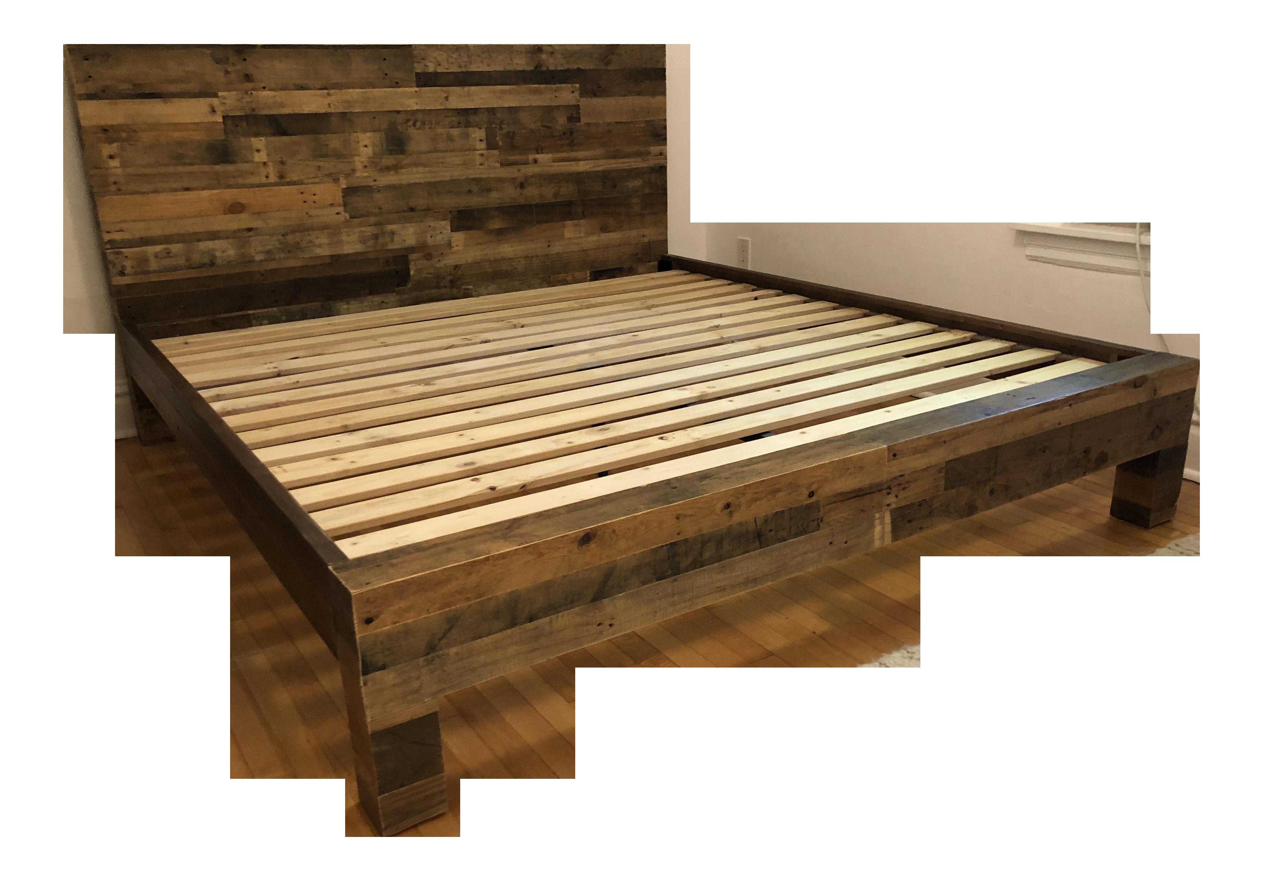 Rustic West Elm - Emmerson King Size Reclaimed Wood Bedframe