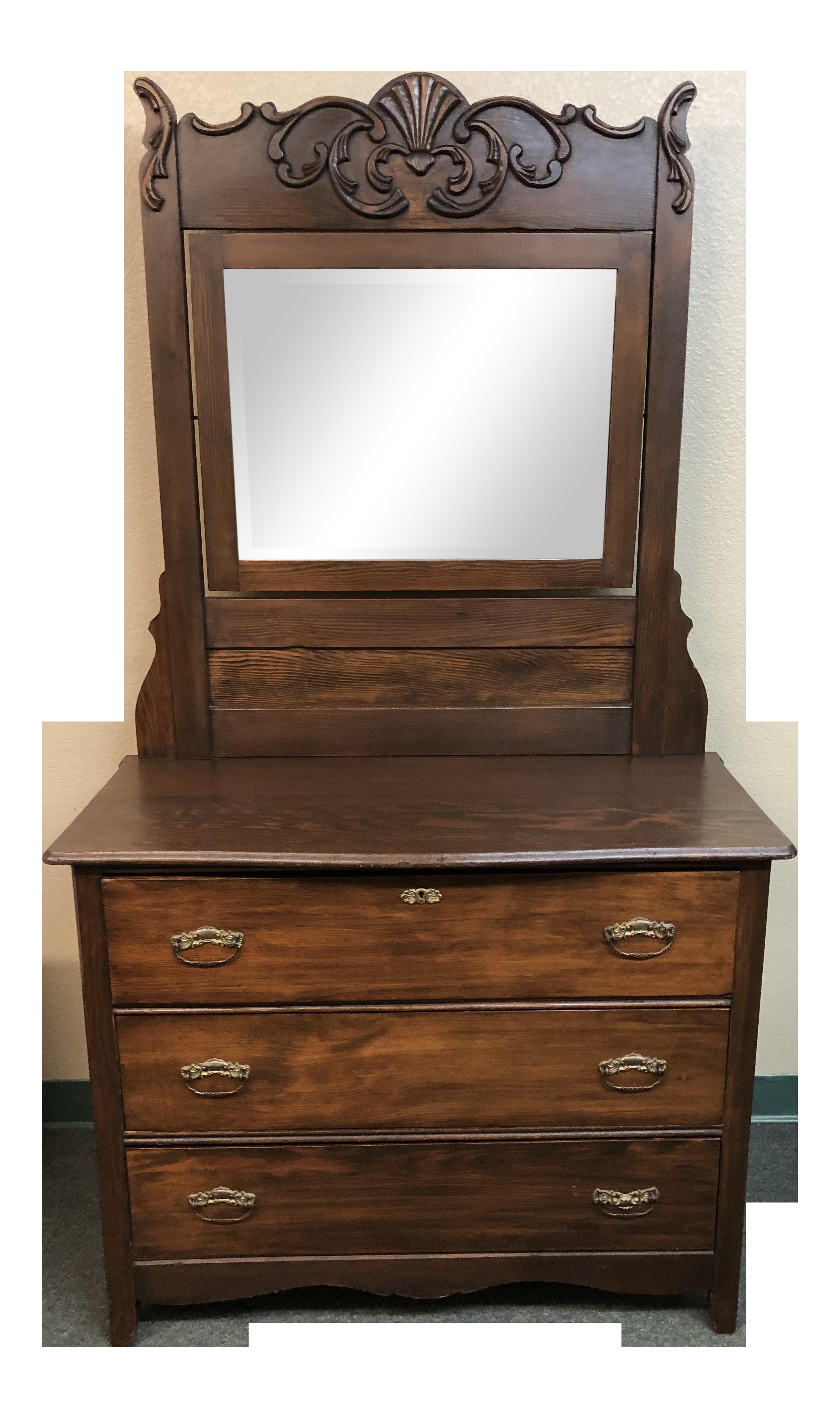 Vintage Dresser + Mirror