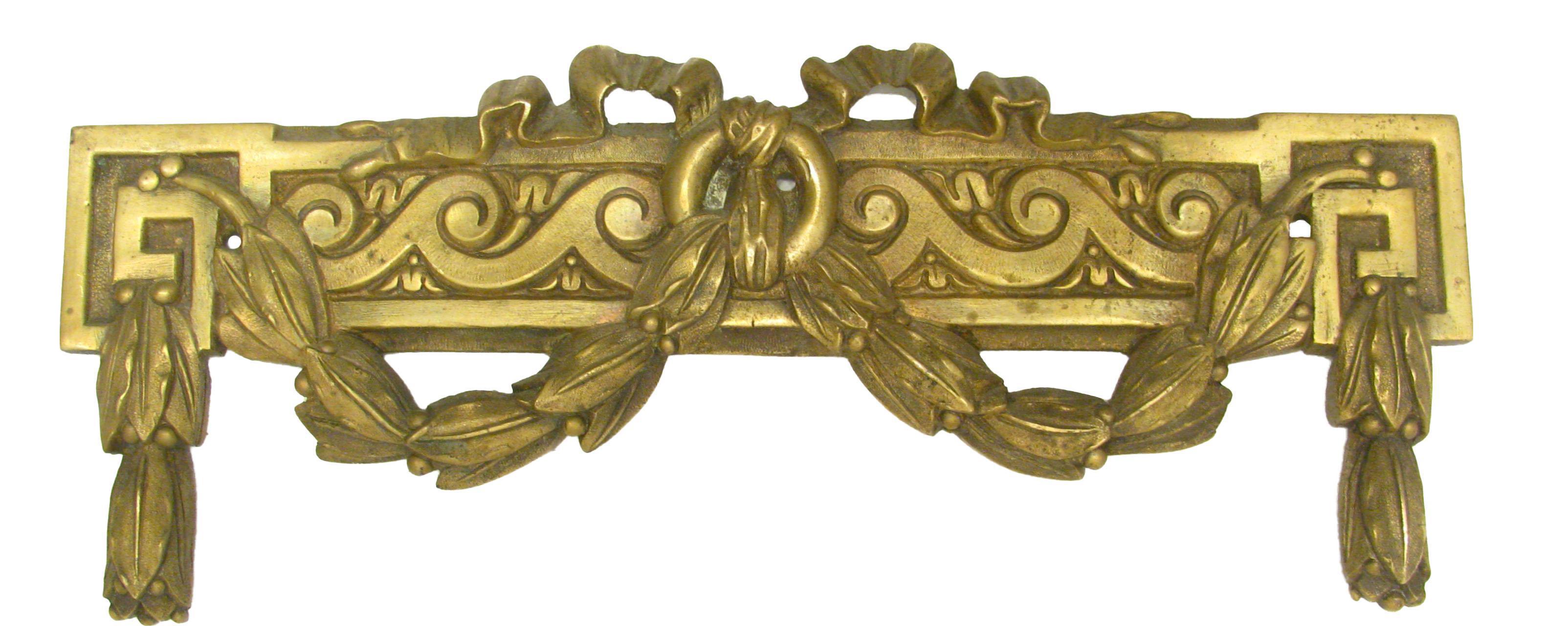 French Bronze Doré / Ormolu Greek Key Mount   Chairish