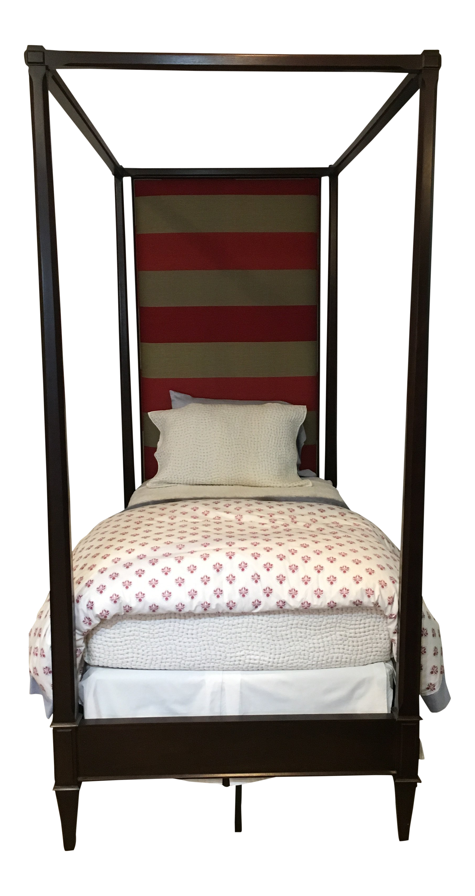 Fantastic Custom Upholstered Hickory Chair Four Poster Twin Bed Chairish Uwap Interior Chair Design Uwaporg