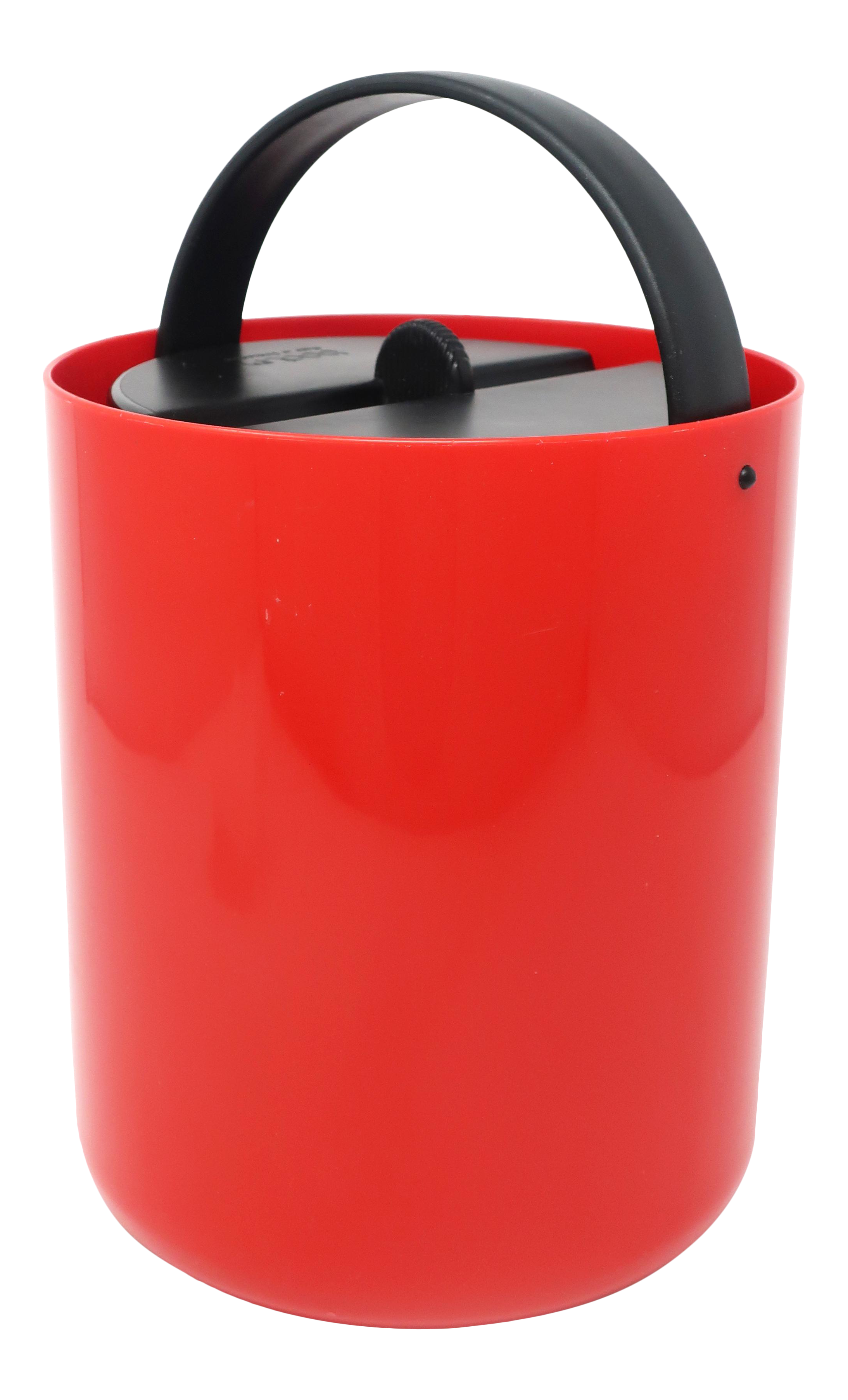 Vintage Red And Black Plastic Ice Bucket By Bodum Chairish