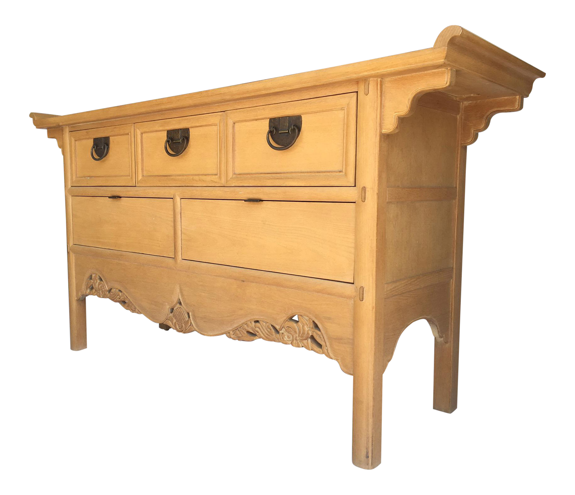 Ming Asian Blonde Wood Server By Hickory White
