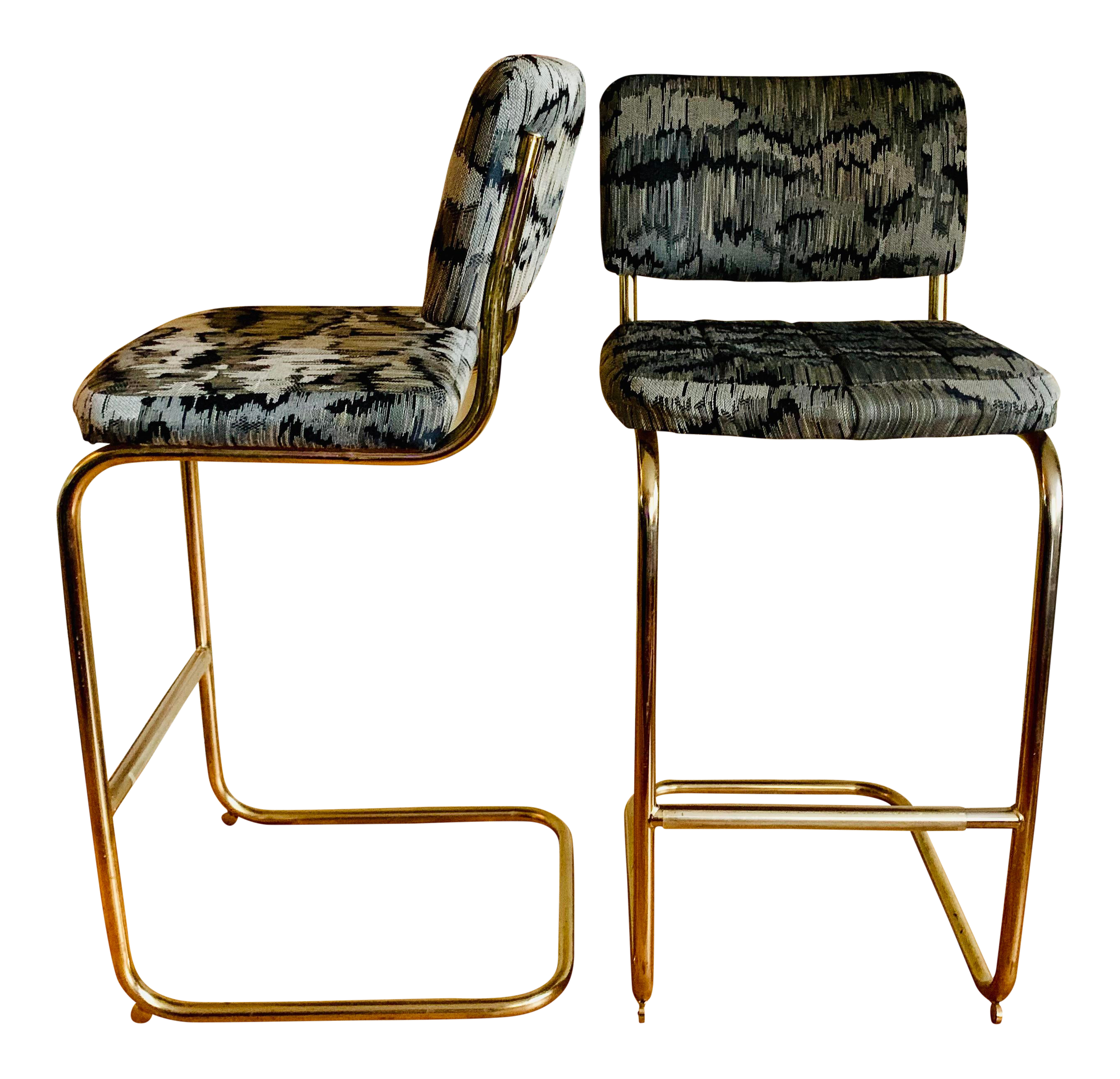 Outstanding Mid Century Modern Cantilever Bar Stools A Pair Pdpeps Interior Chair Design Pdpepsorg