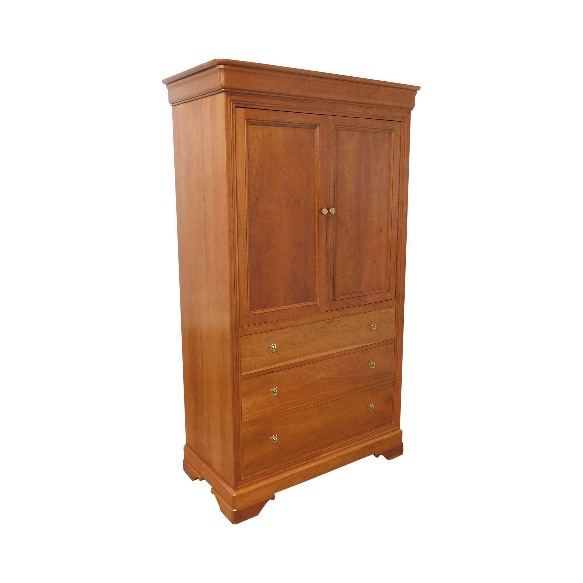 stickley la rochelle cherry louis philippe style tv armoire