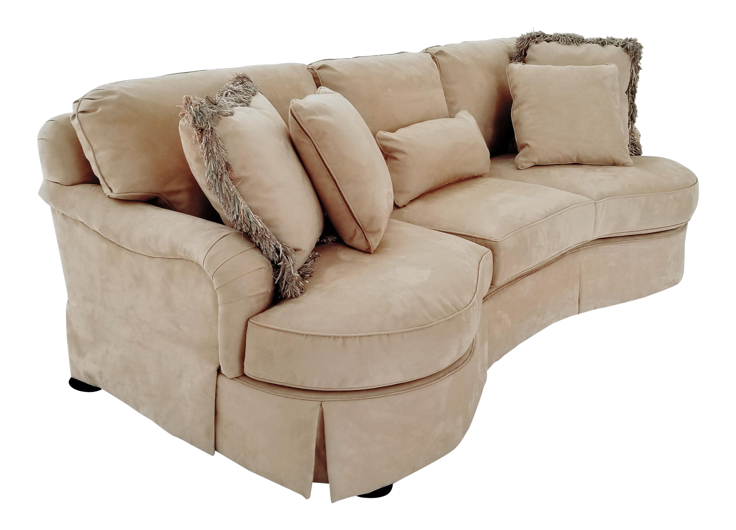 Modern Lexington Furniture Kidney Shaped Micro Suede Sofa Chairish
