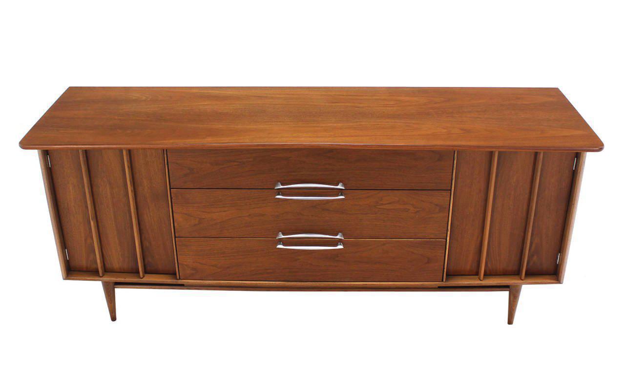 Danish Credenza Walnut : Mid century modern dresser credenza lane drexel walnut sideboard