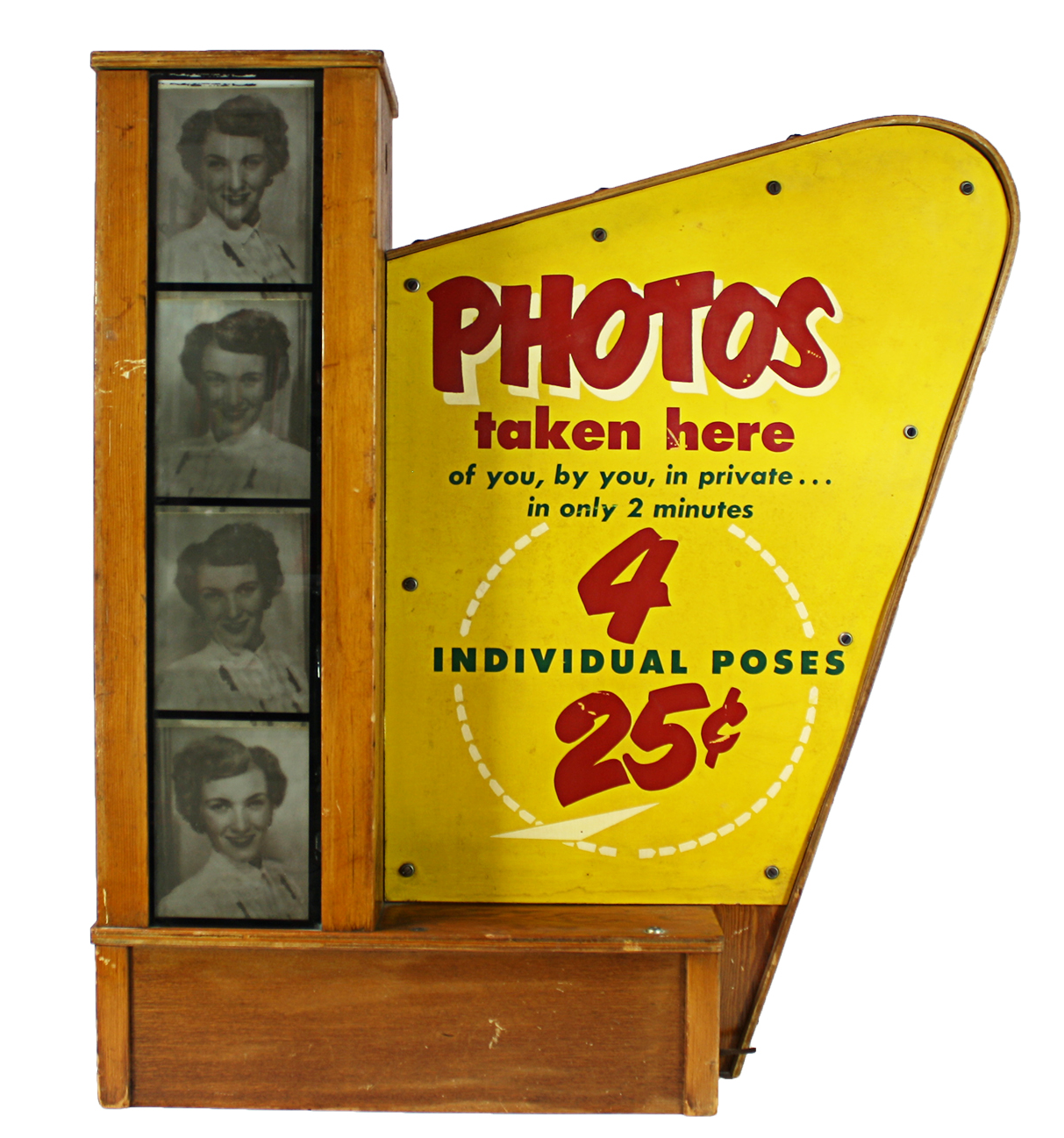 Vintage Lighted Photo Booth Sign | Chairish