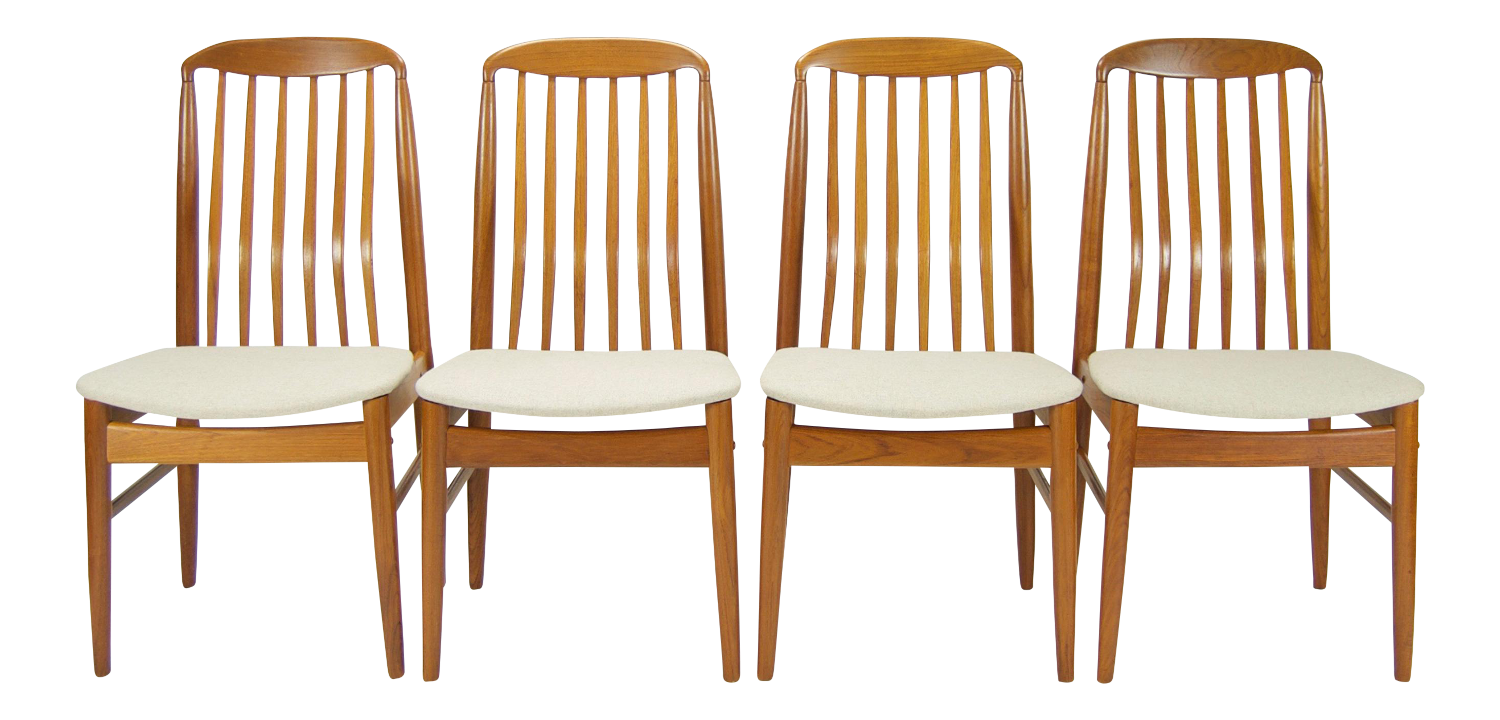 Ansager mobler danish modern dining chairs set of 4 for Modern dining chairs ireland