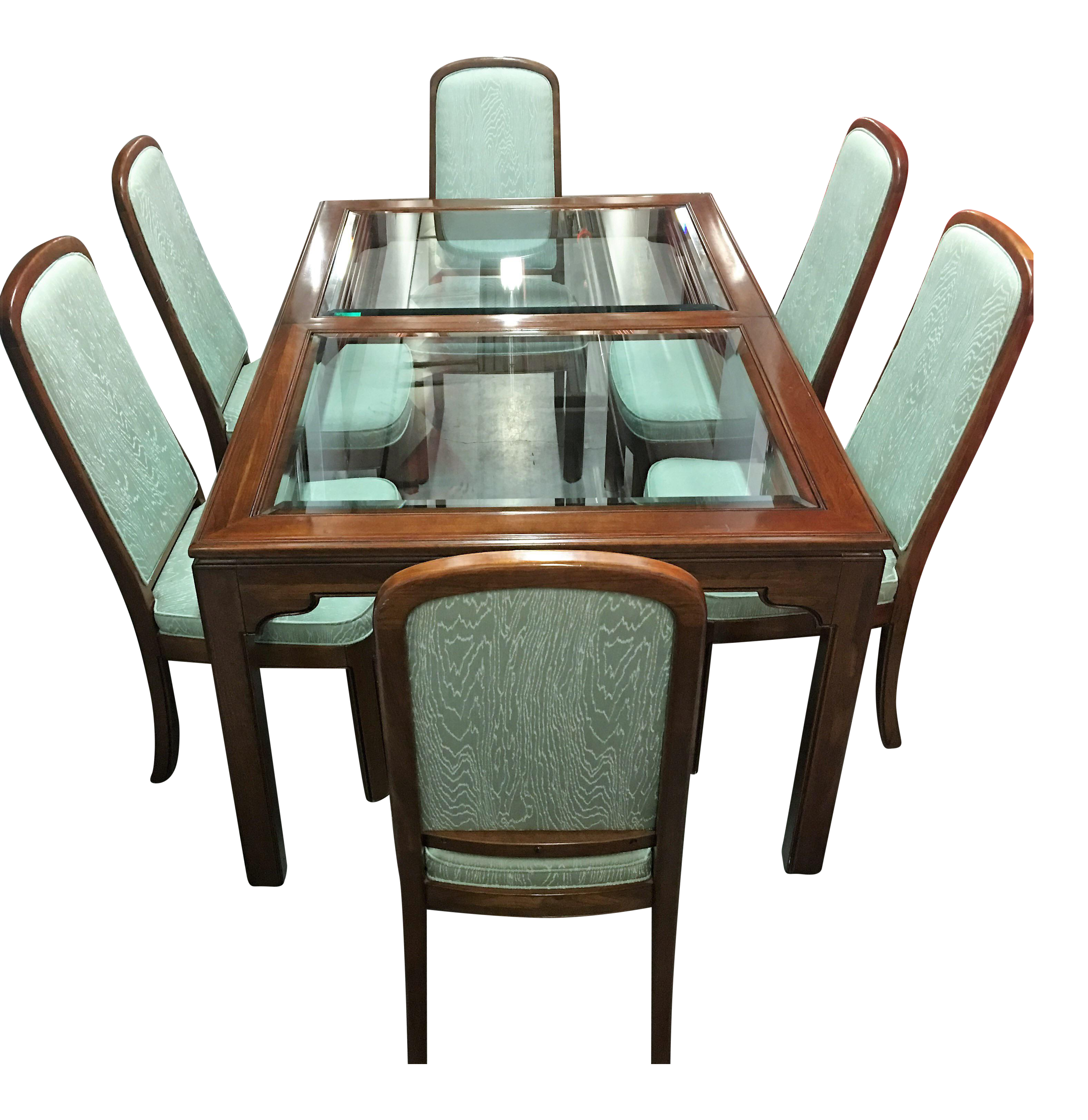 Kitchen Table And Chairs Ireland: Ethan Allen Dining Table & Mint Green Chairs