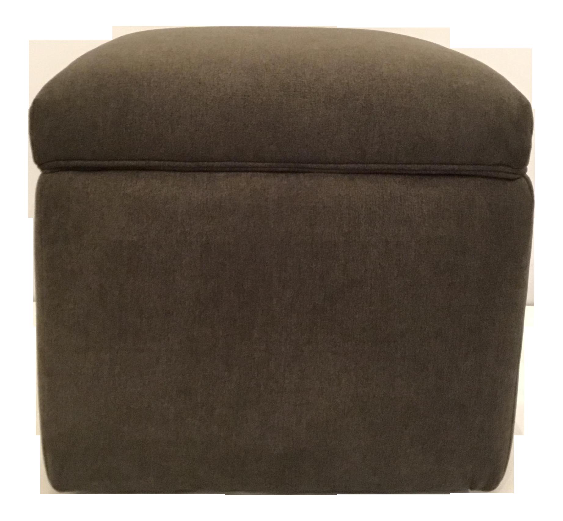 Fantastic Transitional Dark Gray Storage Ottoman Short Links Chair Design For Home Short Linksinfo