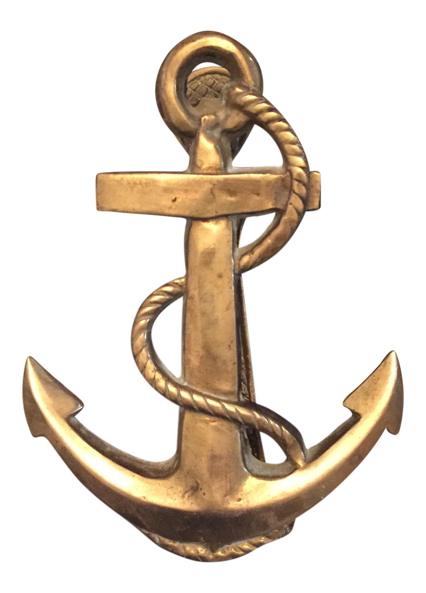 Nautical Coastal Beach House Anchor Amp Rope Brass Door