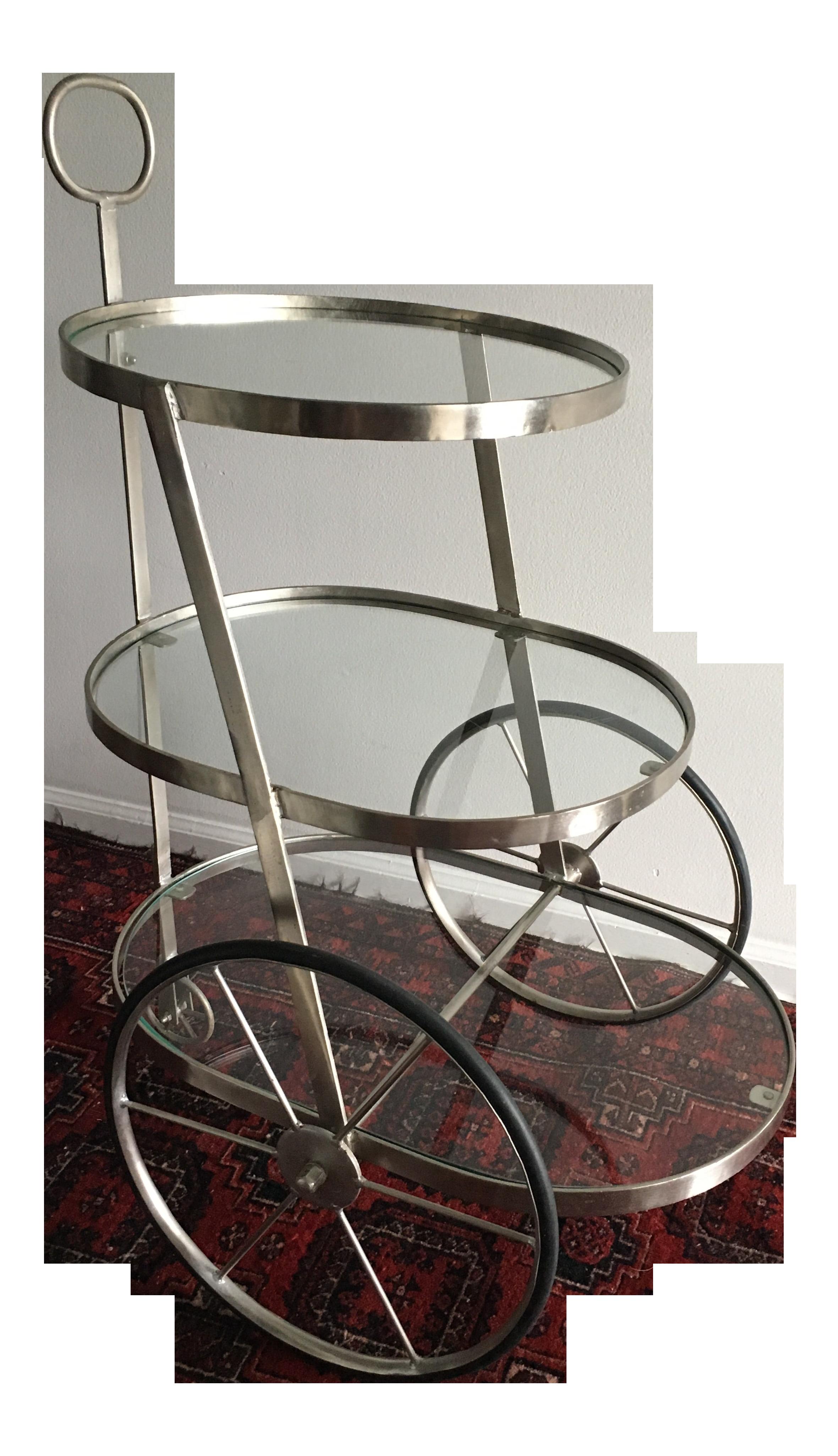 1950s Mid Century Metal Bar Cart Table Chairish