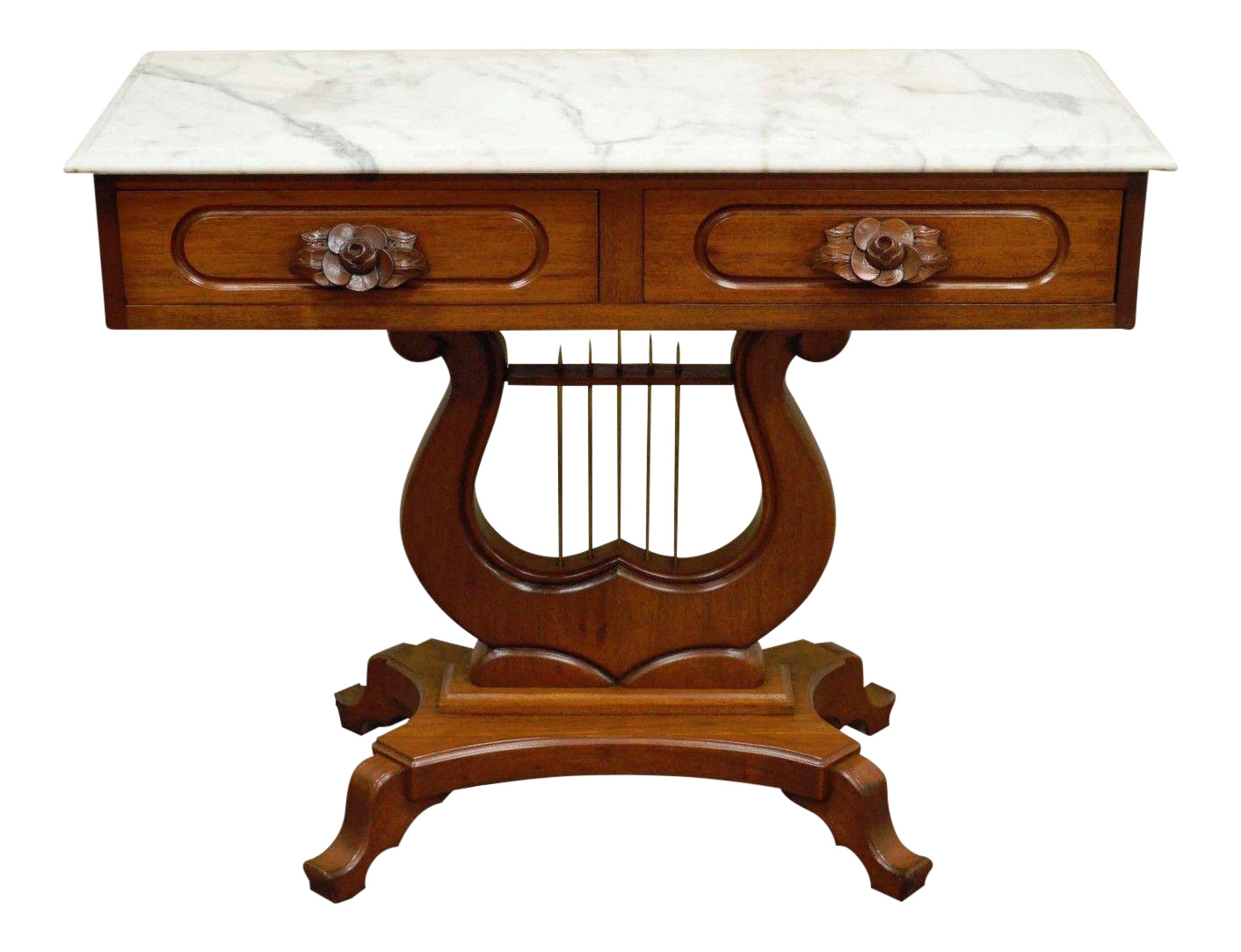 console table mahogany vintage mahogany marble top table console 2443