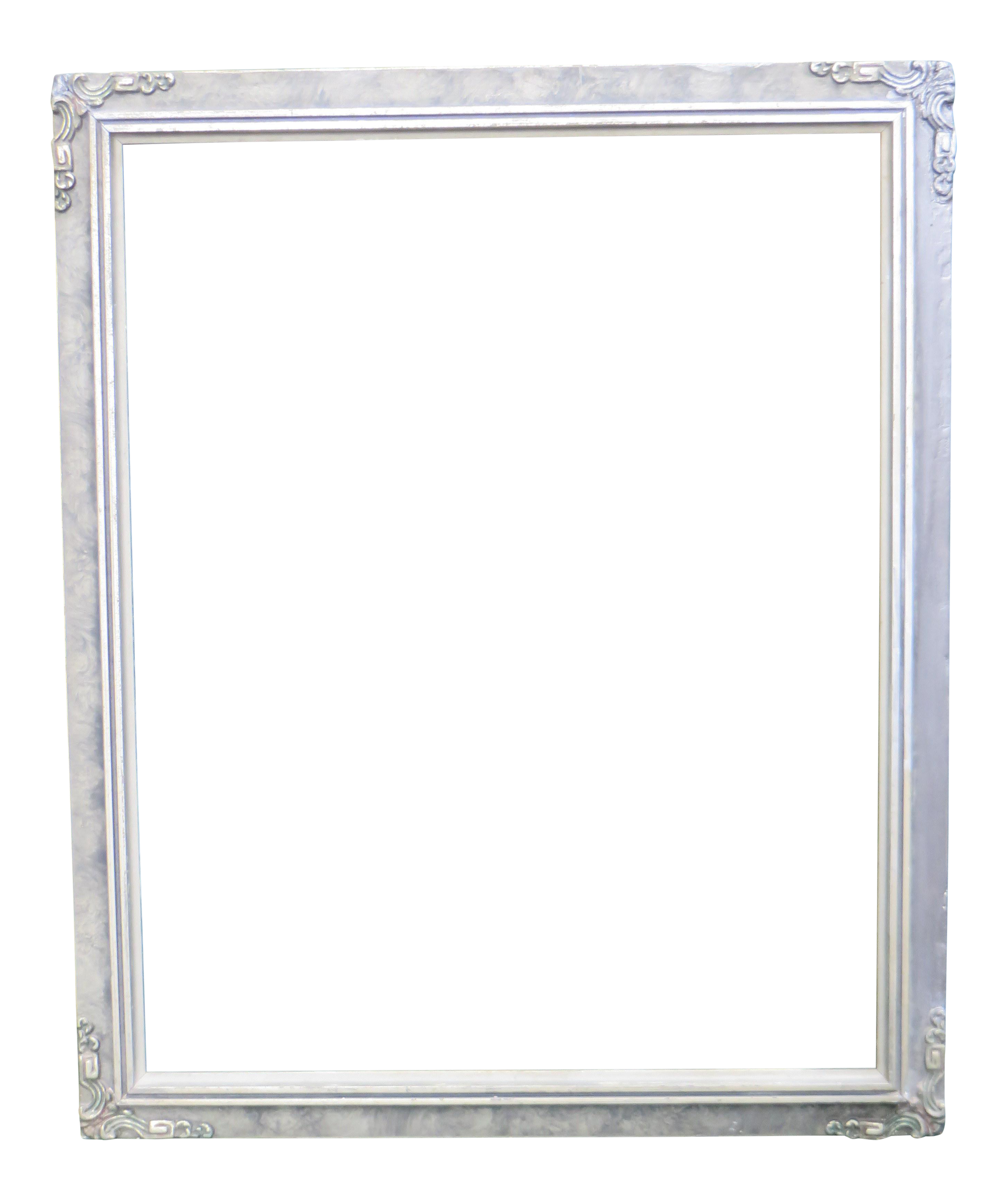 Antique Silver Tone Wood Picture Frame Chairish