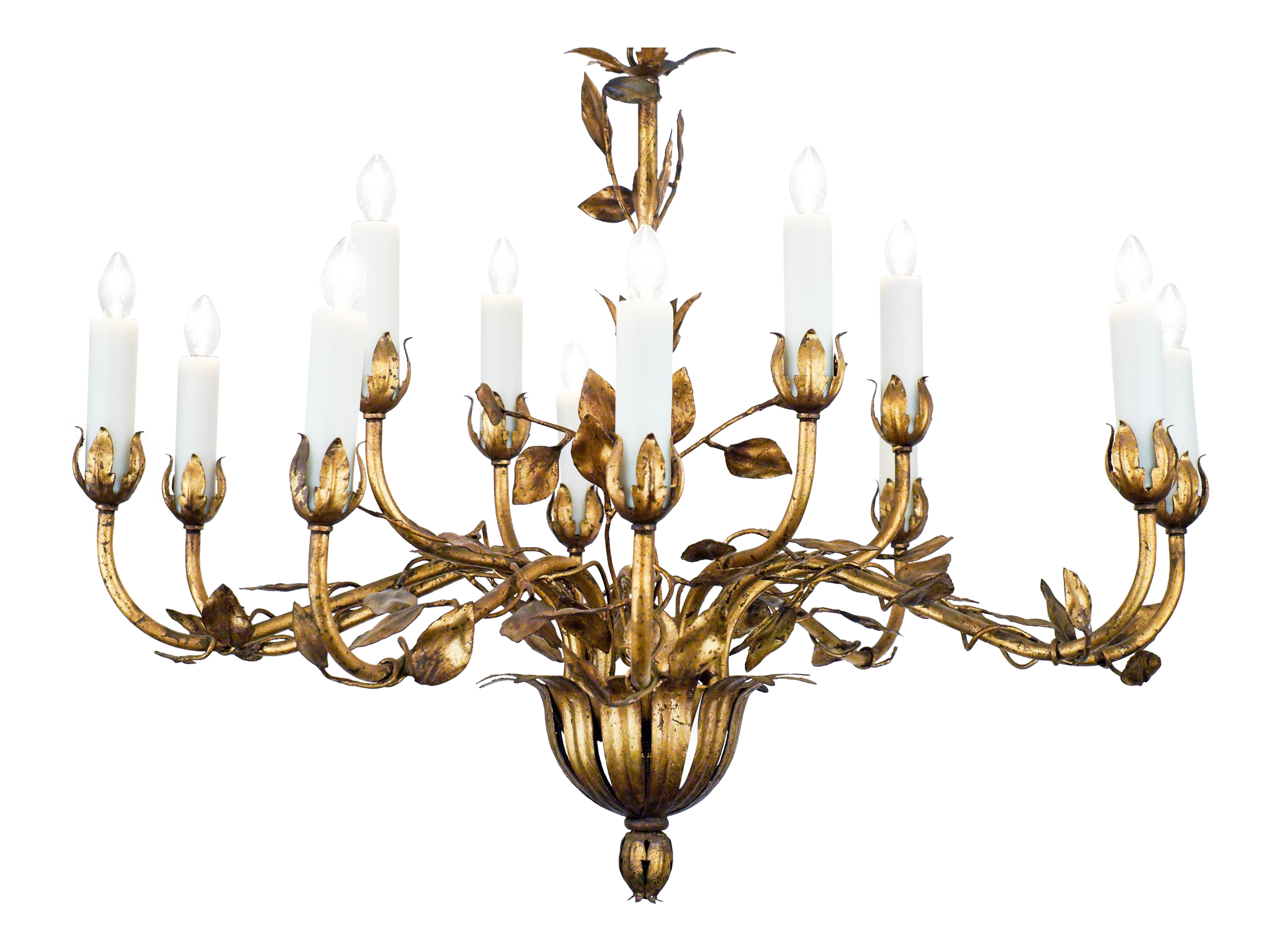 Exceptional vintage gold leaf tole chandelier decaso arubaitofo Image collections