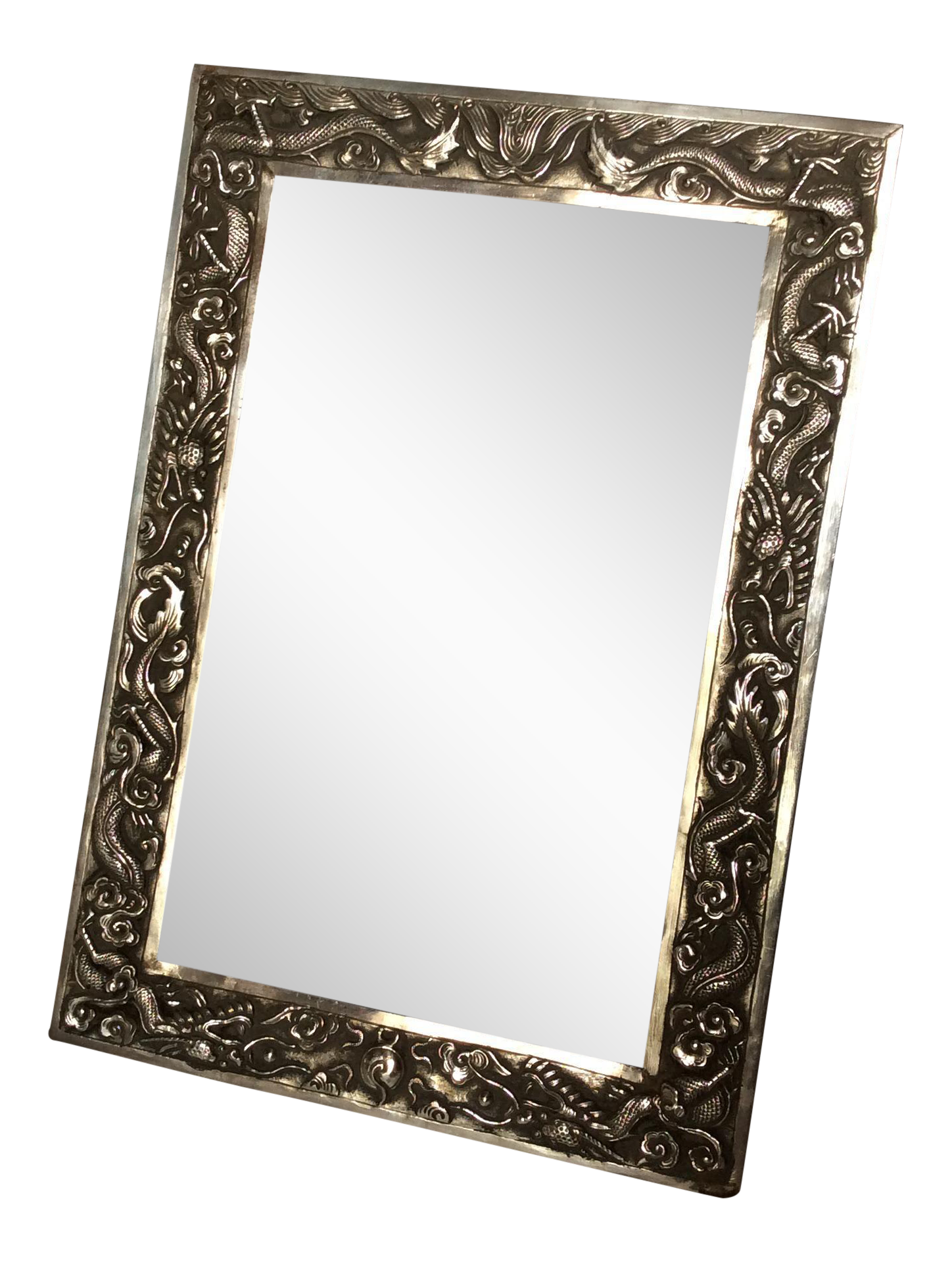 Vintage used silver picture frames chairish antique chinese export sterling silver frame jeuxipadfo Gallery