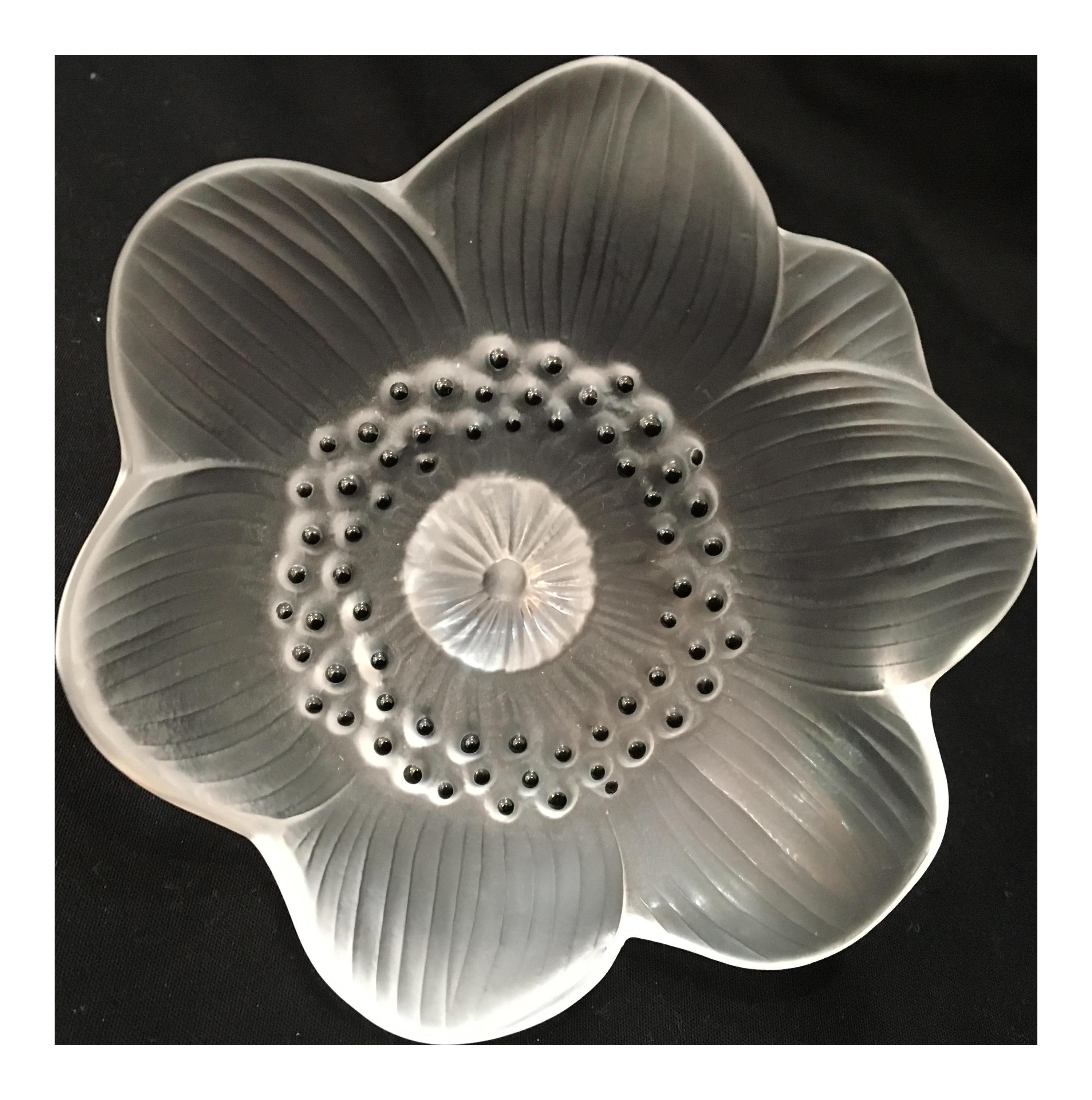 Lalique Anemone Flower Paper Weight Chairish