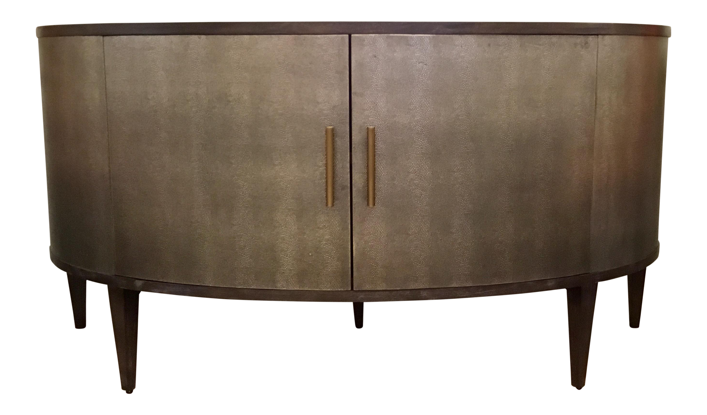 Tremendous Theodore Alexander Modern Shagreen Embossed Leather Roland Sideboard Demi Lune Alphanode Cool Chair Designs And Ideas Alphanodeonline