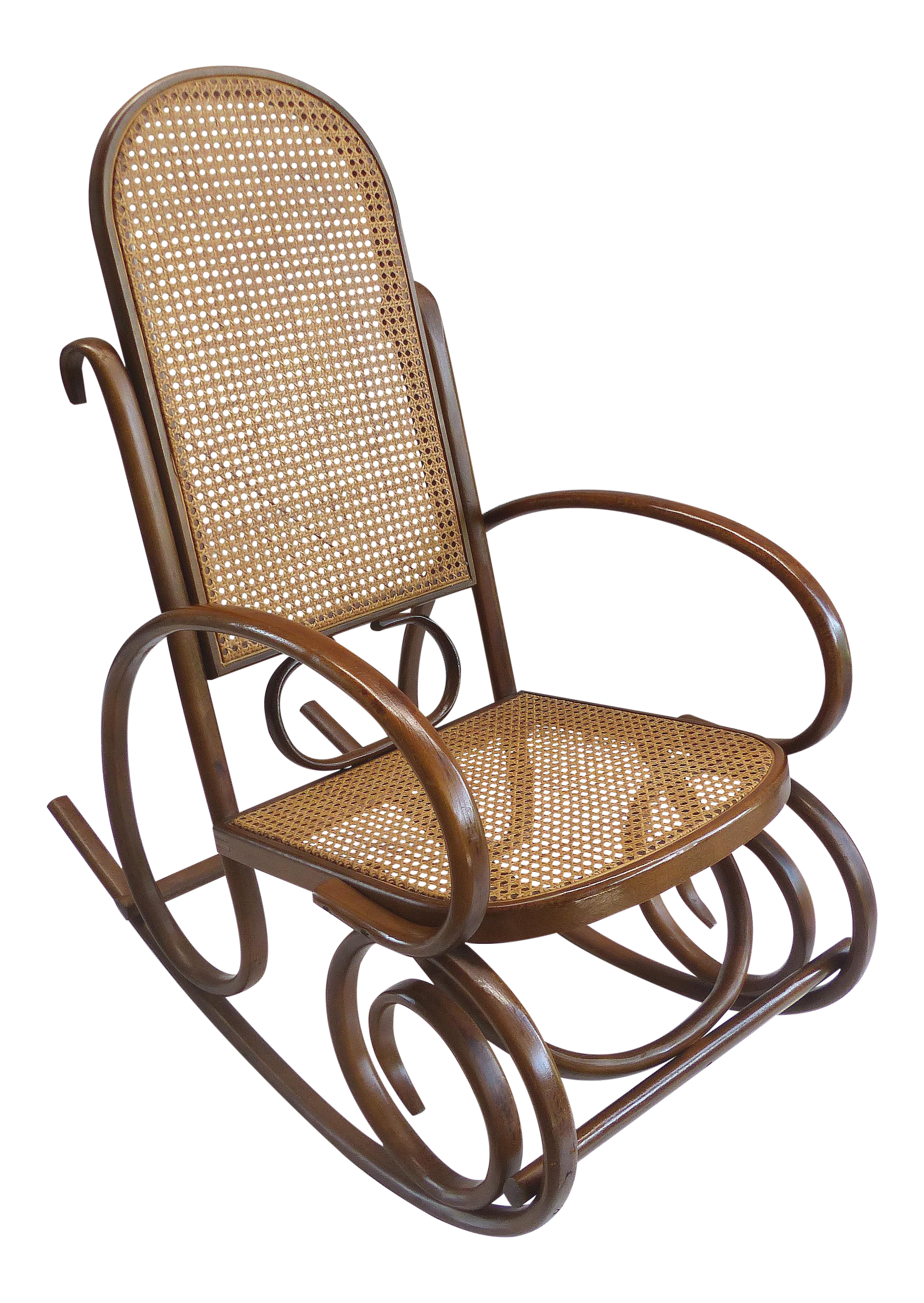 Excellent Mid Century Bentwood Cane Rocking Chair Gmtry Best Dining Table And Chair Ideas Images Gmtryco
