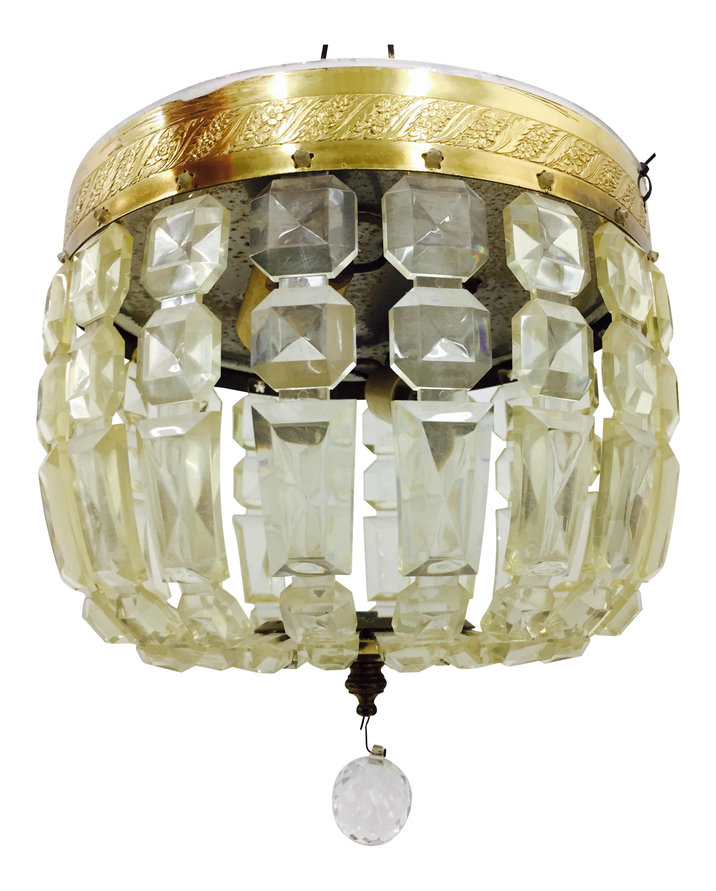 brass loading flush light fs mount flushmount ceiling vintage dark urban renewal zoom ceilings antique